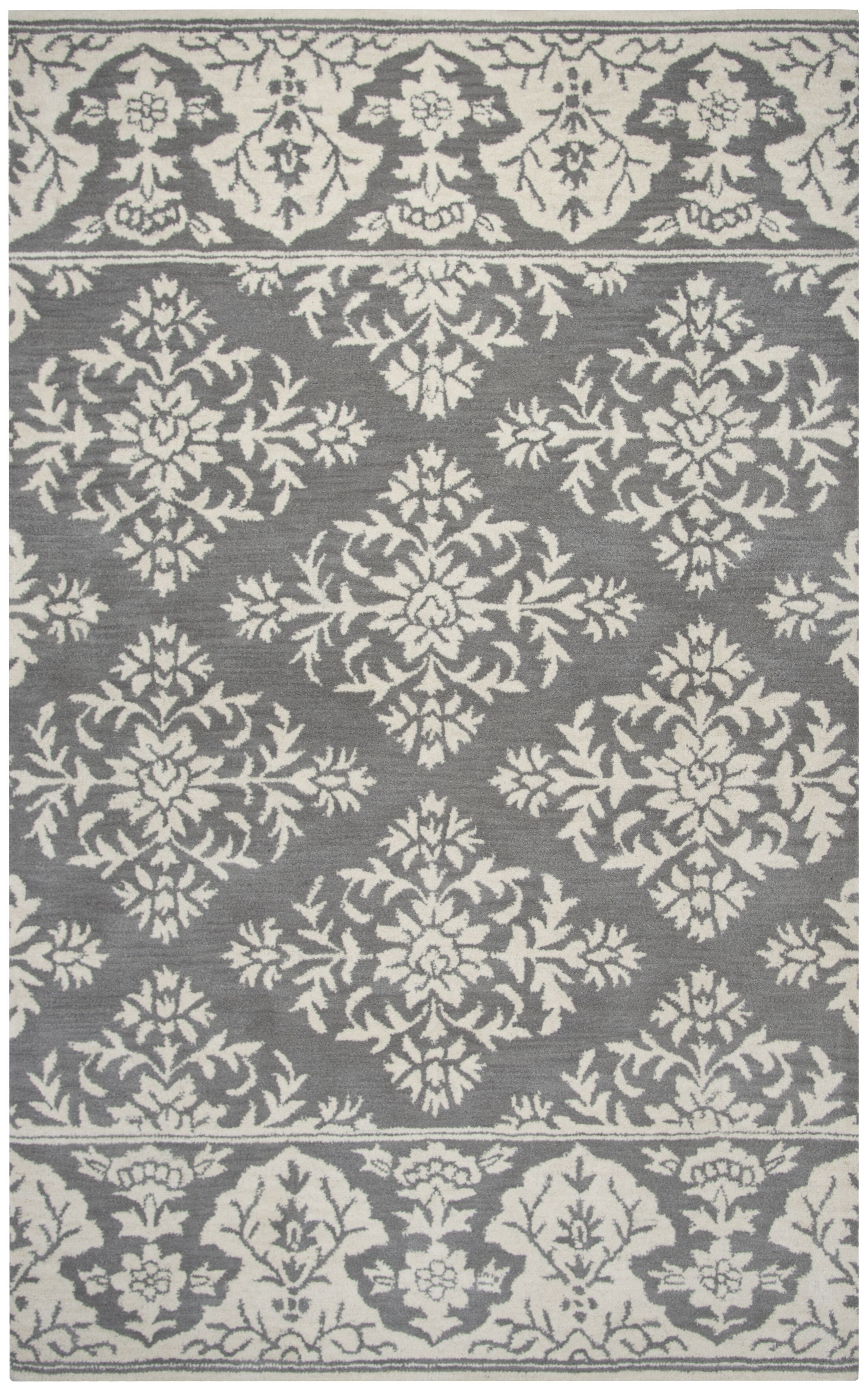 Hulme Hand-Tufted Wool Gray Area Rug Rug Size: Rectangle 9' x 12'
