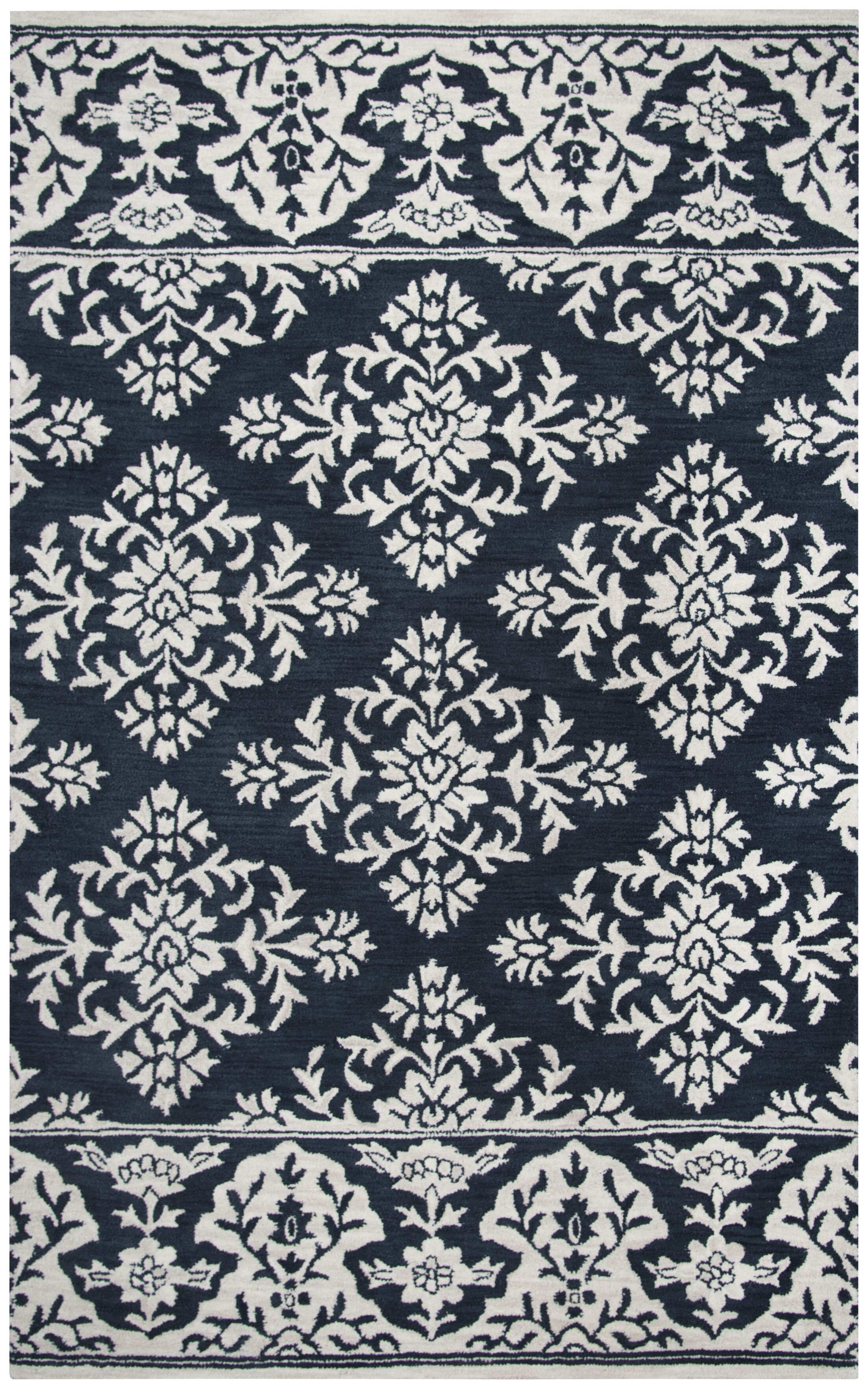 Hulme Hand-Tufted Wool Navy Area Rug Rug Size: Rectangle 5' x 8'