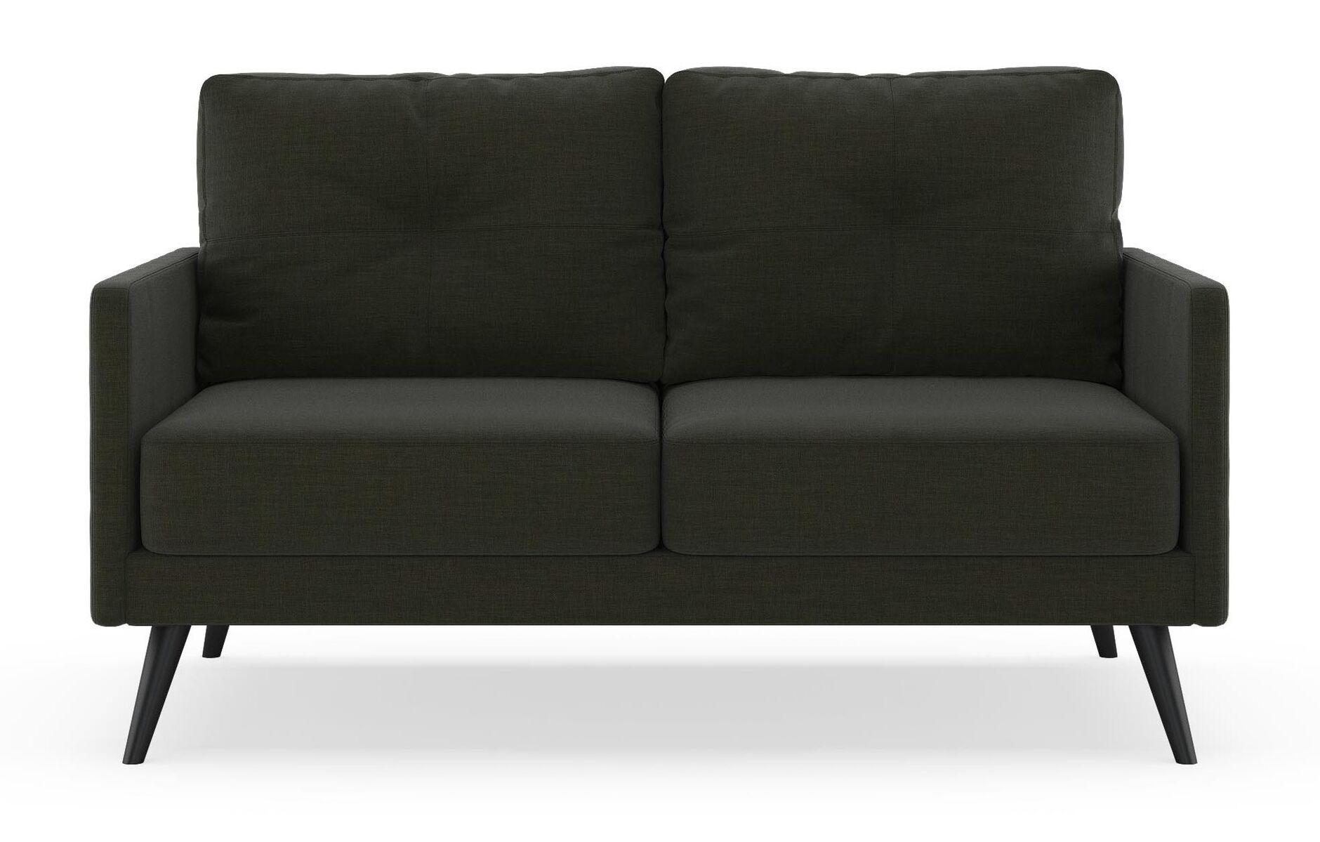 Croker Loveseat Finish: Black, Upholstery: Peppercorn