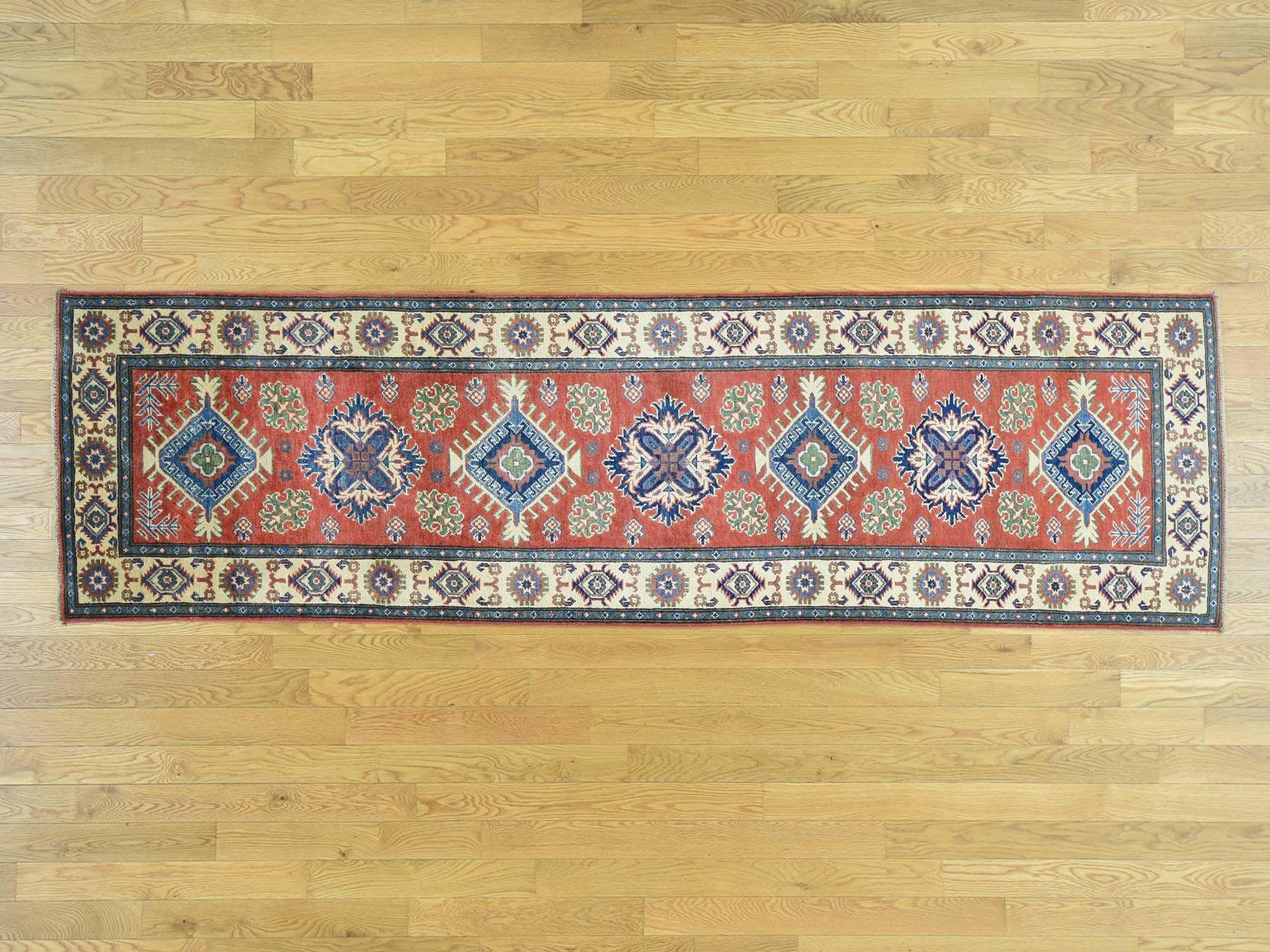 One-of-a-Kind Sanjuana Super Kazak Hand-Knotted Wool Red Area Rug