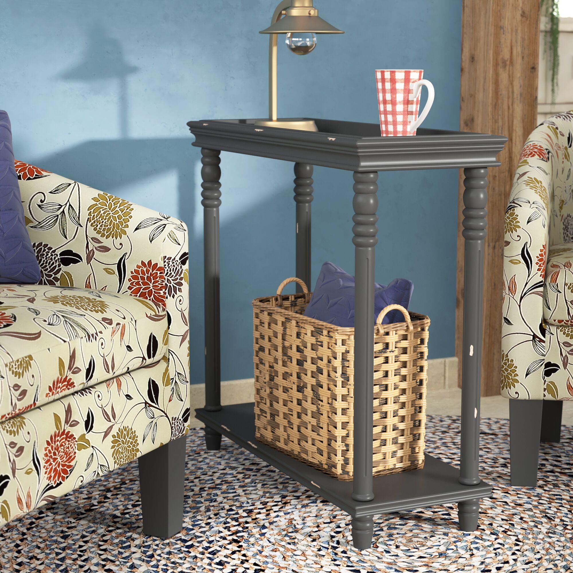 Cedarton Accent End Table Color: Black