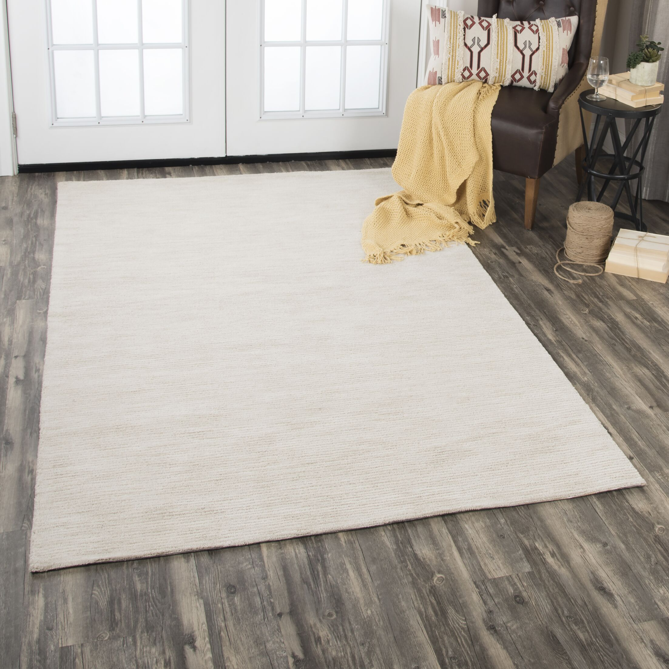 Etheredge Hand-Tufted Wool Beige Area Rug Rug Size: Rectangle 5' x 8'