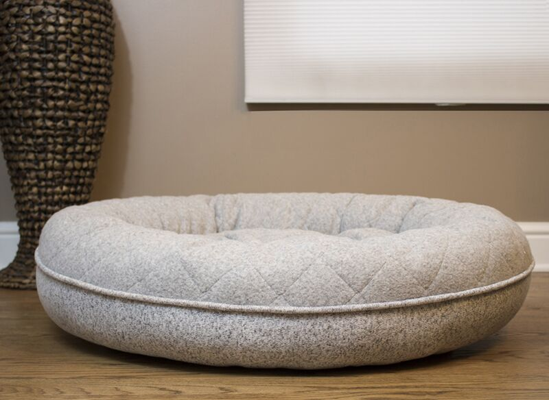Donut Lounger and Cuddler Style Bolster Color: Gray, Size: Large (35