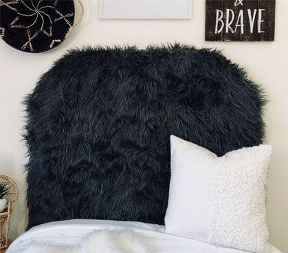 Hosley Mongolian Fur Beveled Twin/Twin XL Upholstered Panel Headboard Upholstery: Charcoal