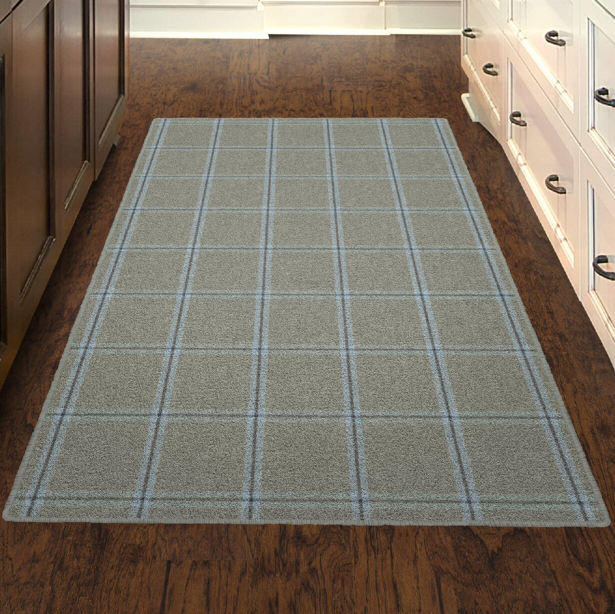 Chretien Simple Neutral Plaid, Traditional Gray Area Rug Rug Size: Rectangle 7'6