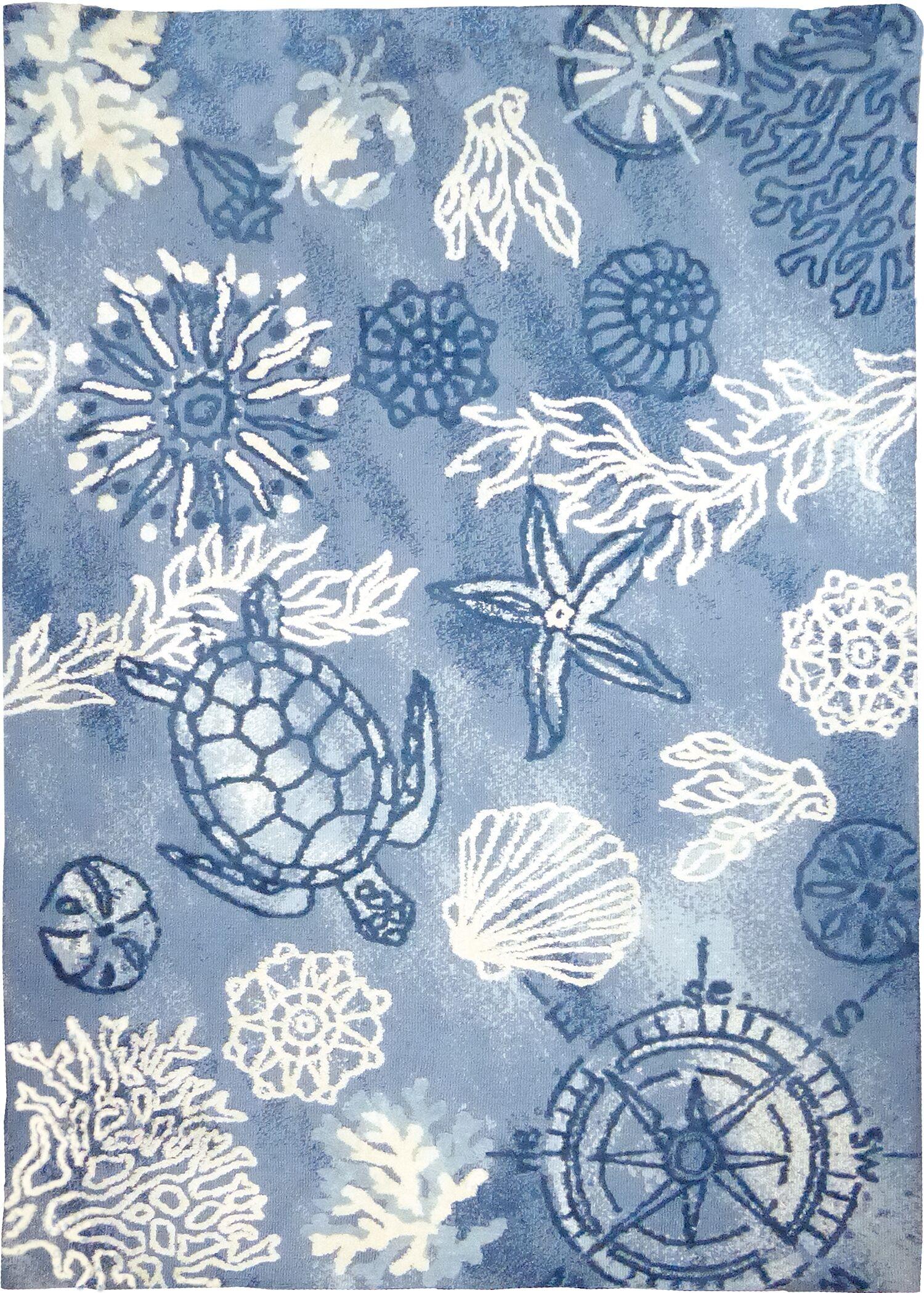 Tam Oceania Blue Area Rug Rug Size: Rectangle 5' x 7'