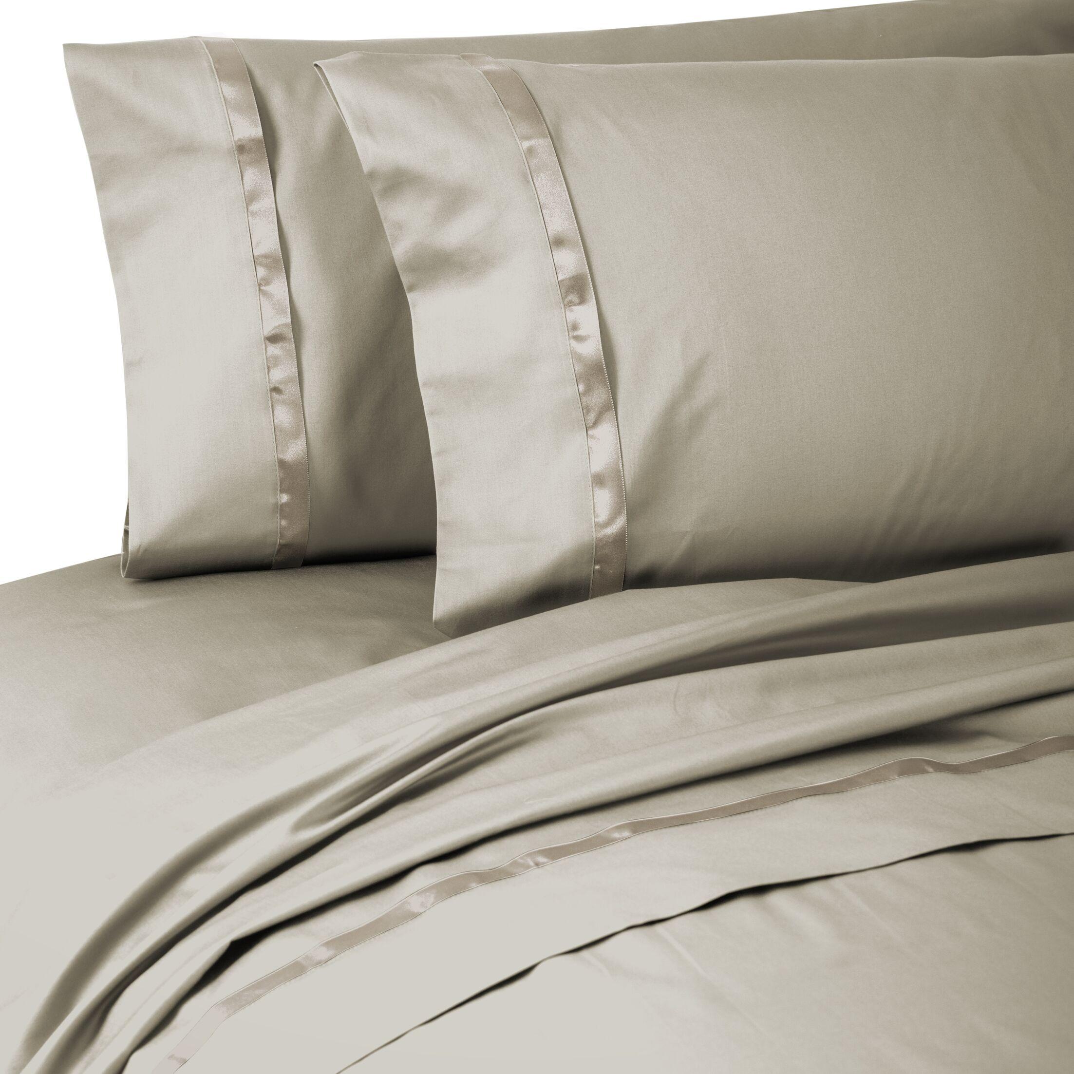 Kiley 400 Thread Count 100% Cotton Sheet Set Size: California King, Color: Linen