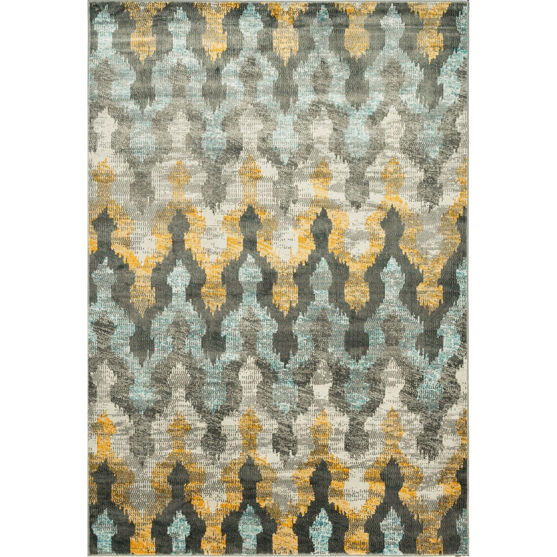 Ramer Trellis Soft Gray/Gold Area Rug Rug Size: Rectangle 5'3