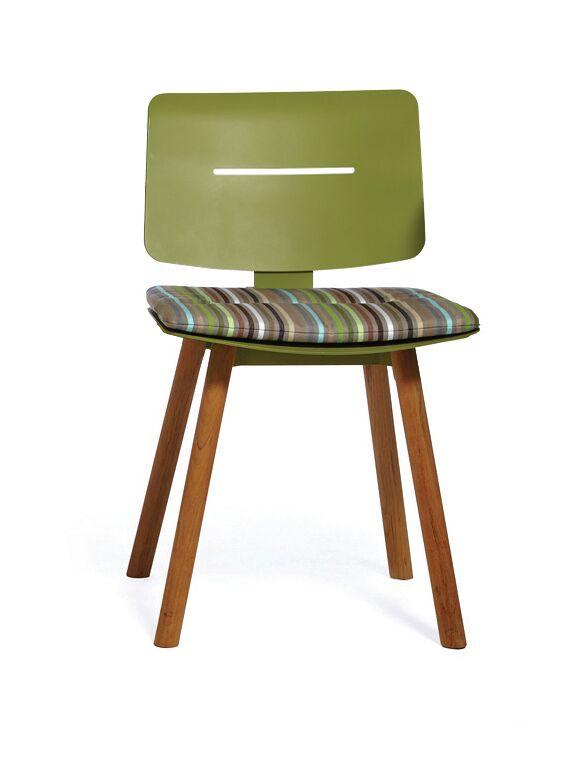 COCO Dining Chair Cushion Fabric: CONFETTI GREEN