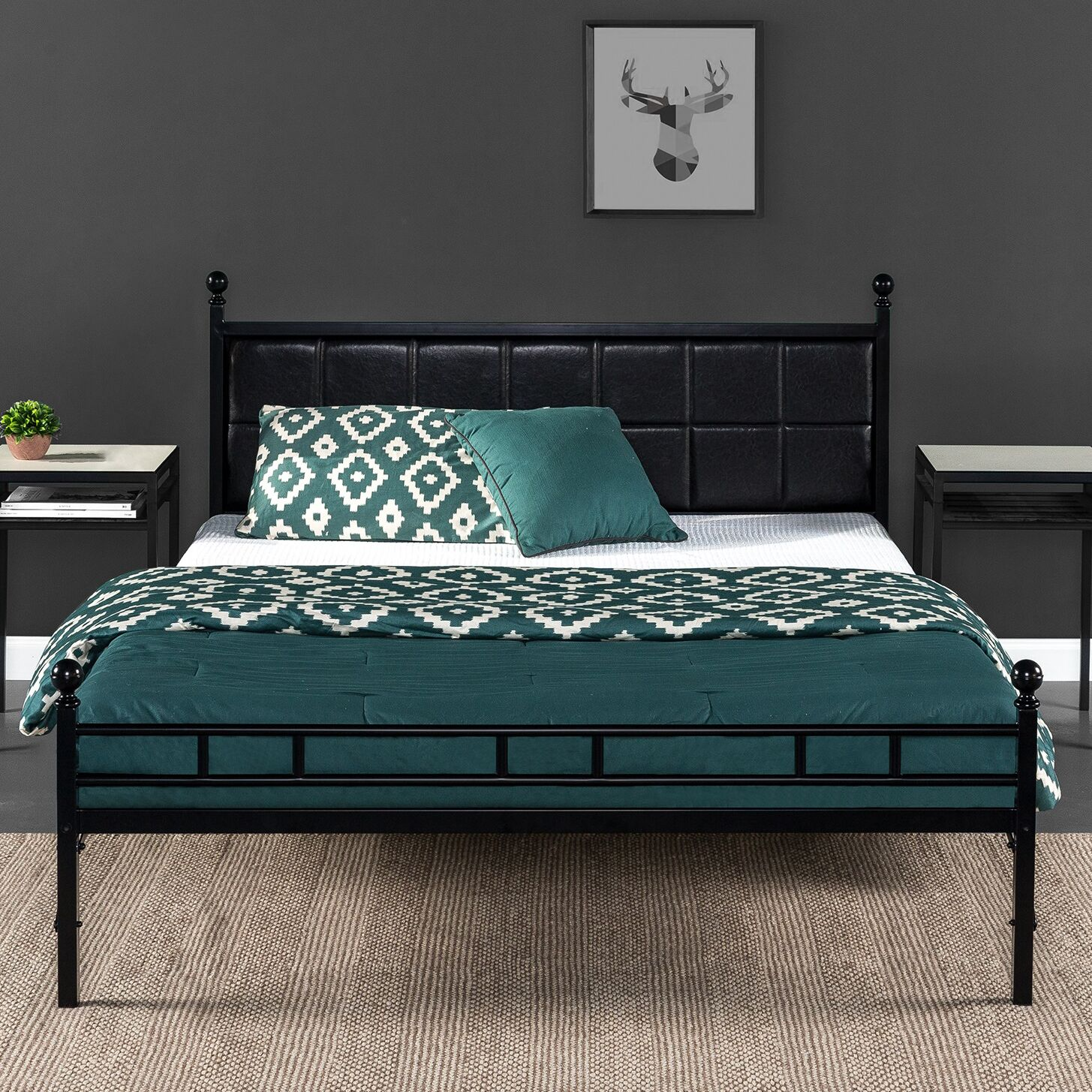 Mayne Upholstered Bed Frame Size: 12