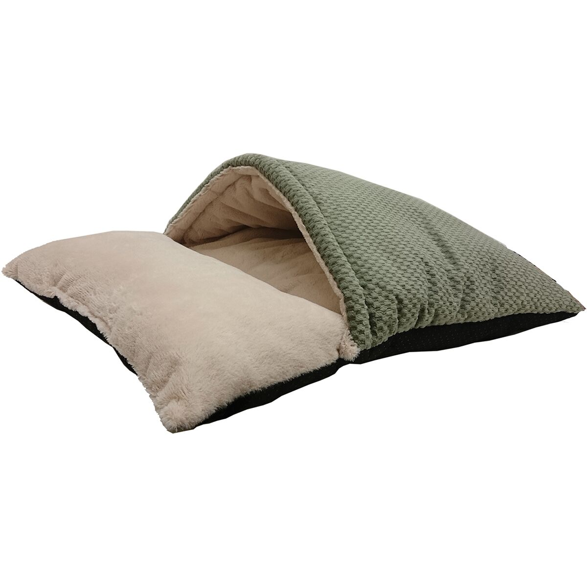 Sleep Zone Burrow Hooded Dog Bed Color: Sage, Size: 22