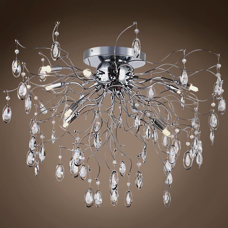 Silvestre 9-Light Flush Mount Bulb Type: LED, Crystal: Swarovski