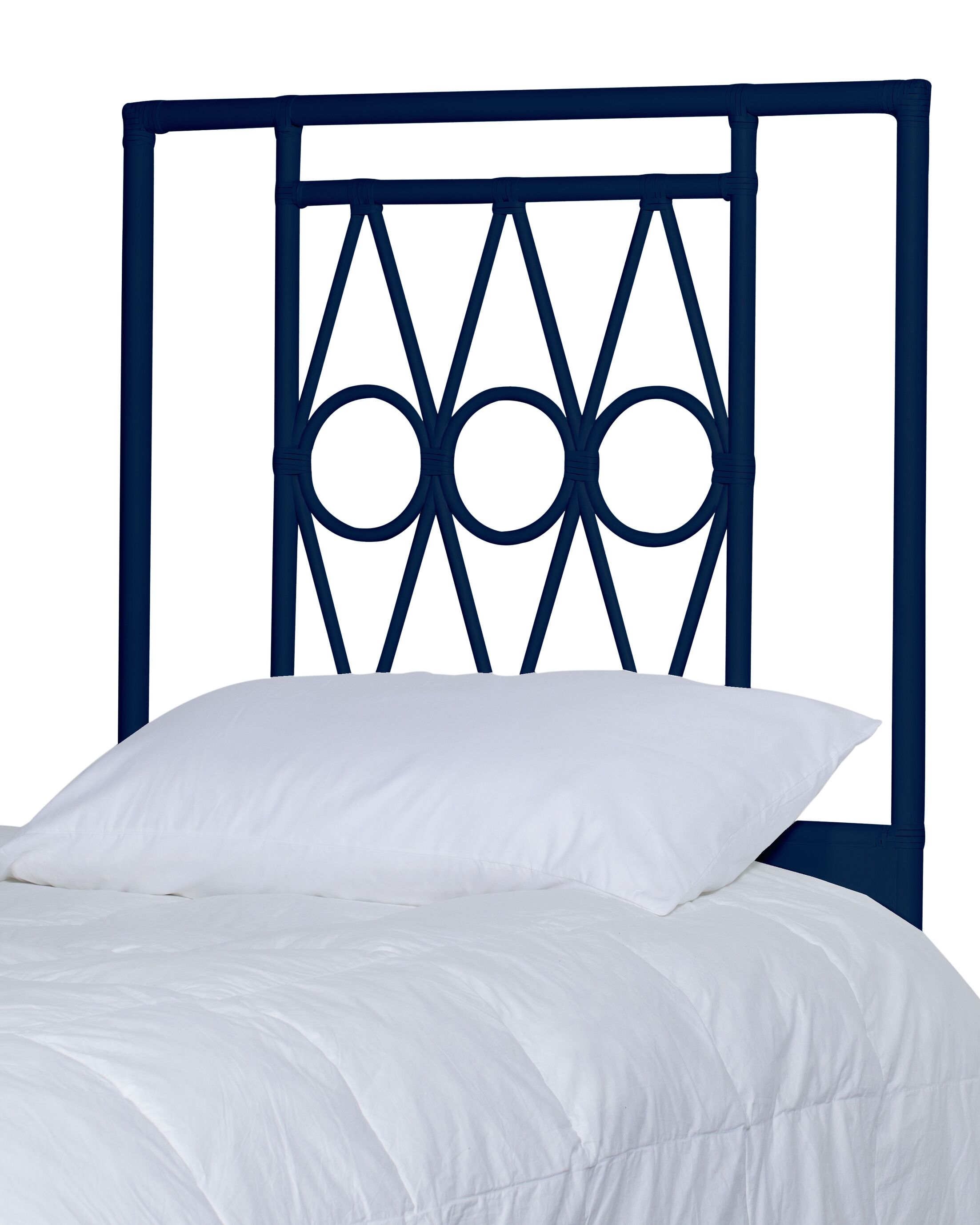 Michelle Headboard Color: Navy, Size: Twin