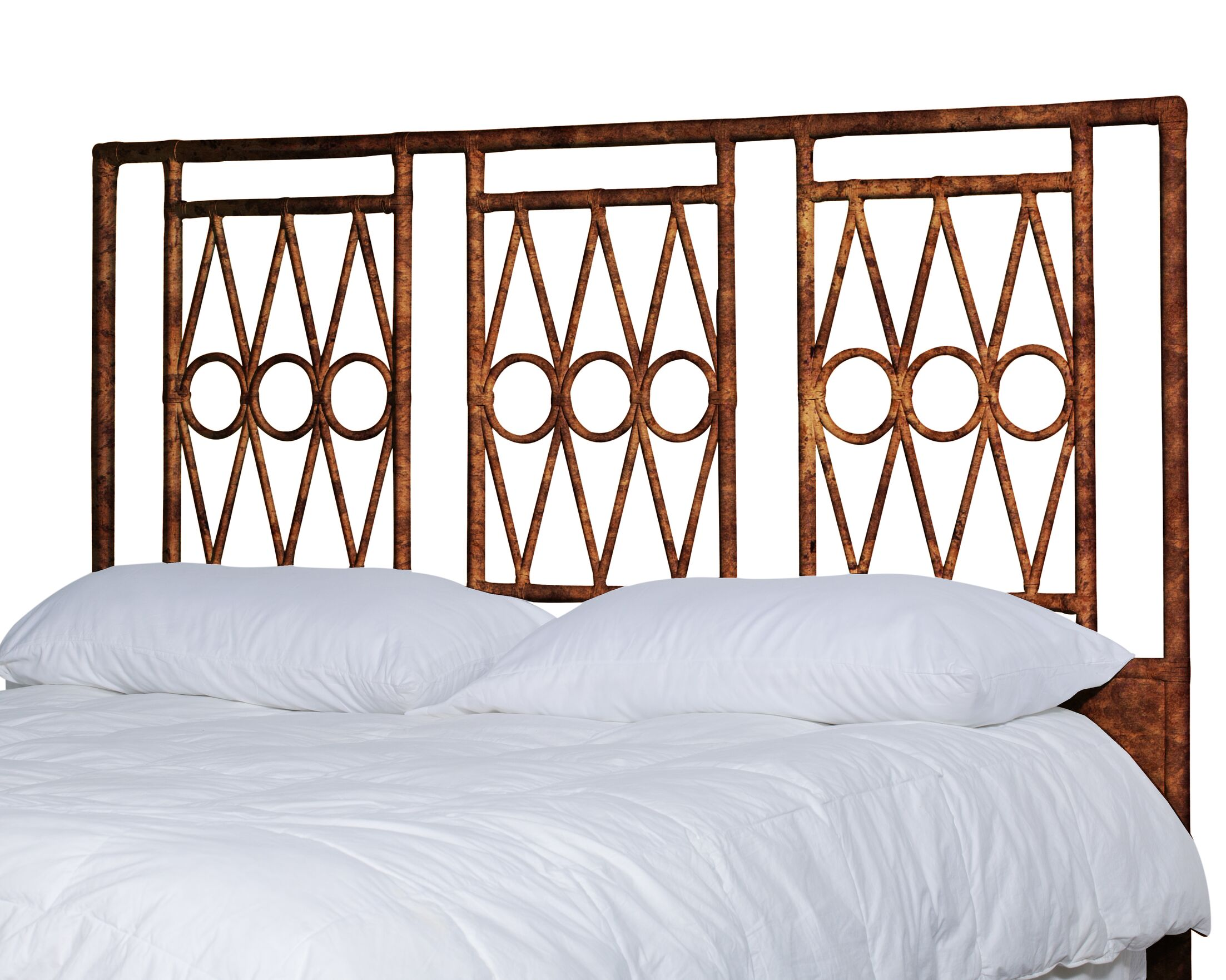 Michelle Headboard Size: King, Color: Tortoise shell