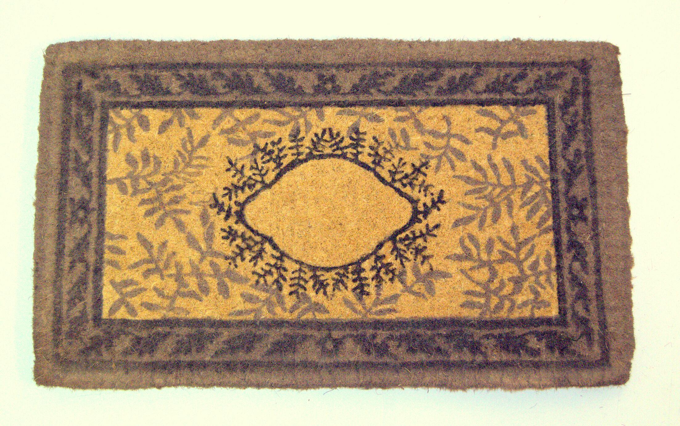 Haveman Leaf Doormat Mat Size: Rectangle 2'6