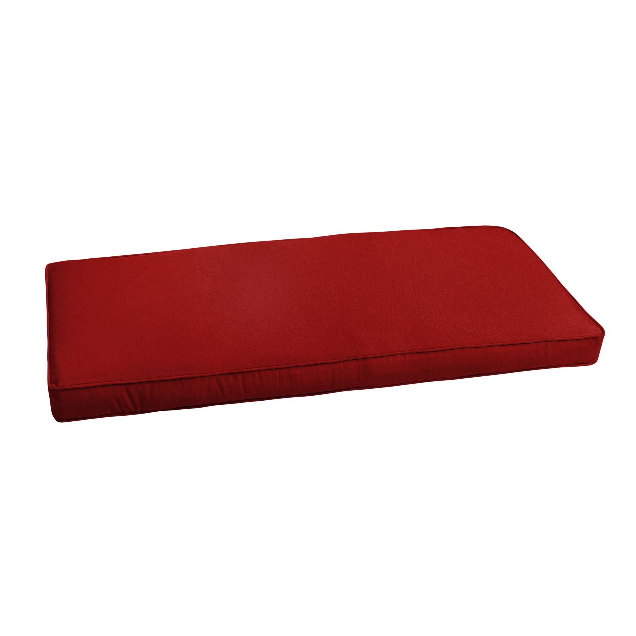 Outdoor Sunbrella Bench Cushion Size: 47.5