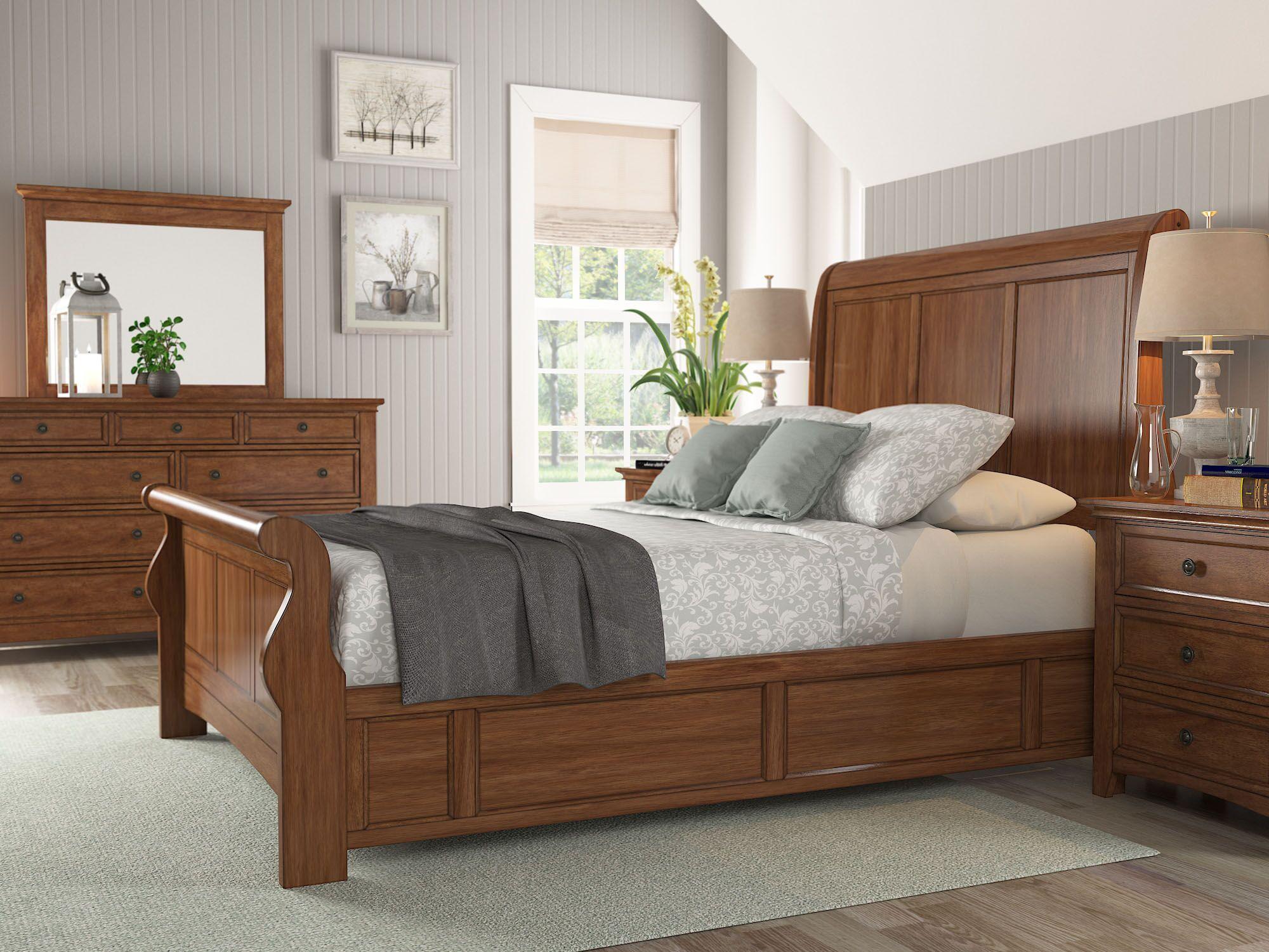 Sefton Storage Sleigh Bed Color: Oak, Size: King