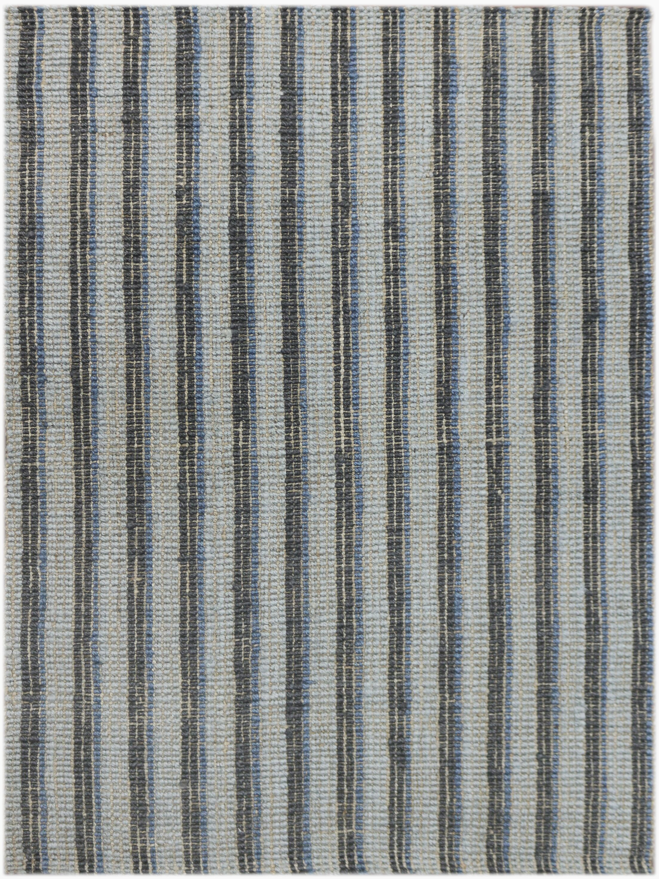 Koleby Striped Hand-Woven Blue Area Rug Rug Size: Runner 2'3
