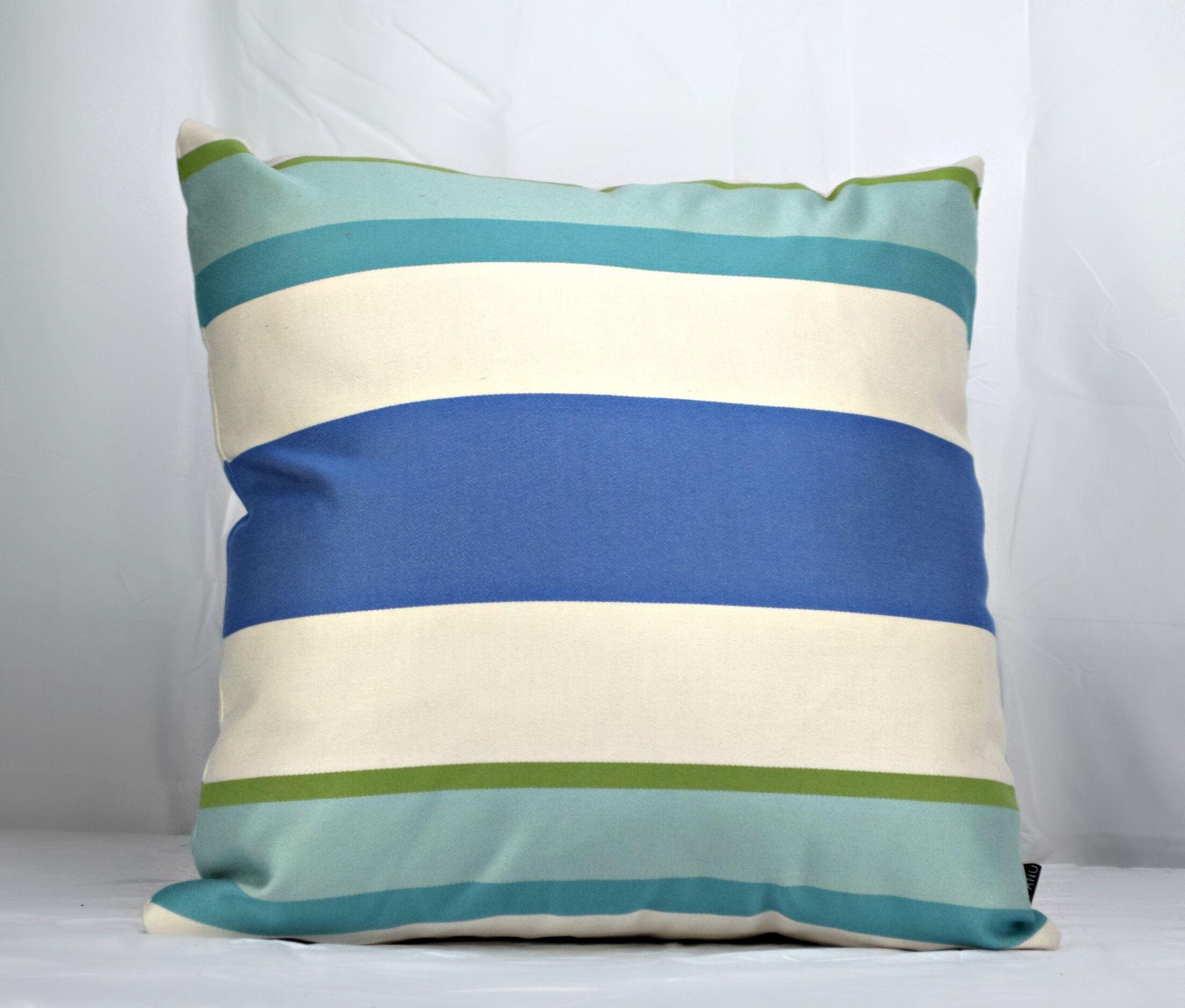 Cueva Stripe Sky Sunbrella Indoor/Outdoor Throw Pillow