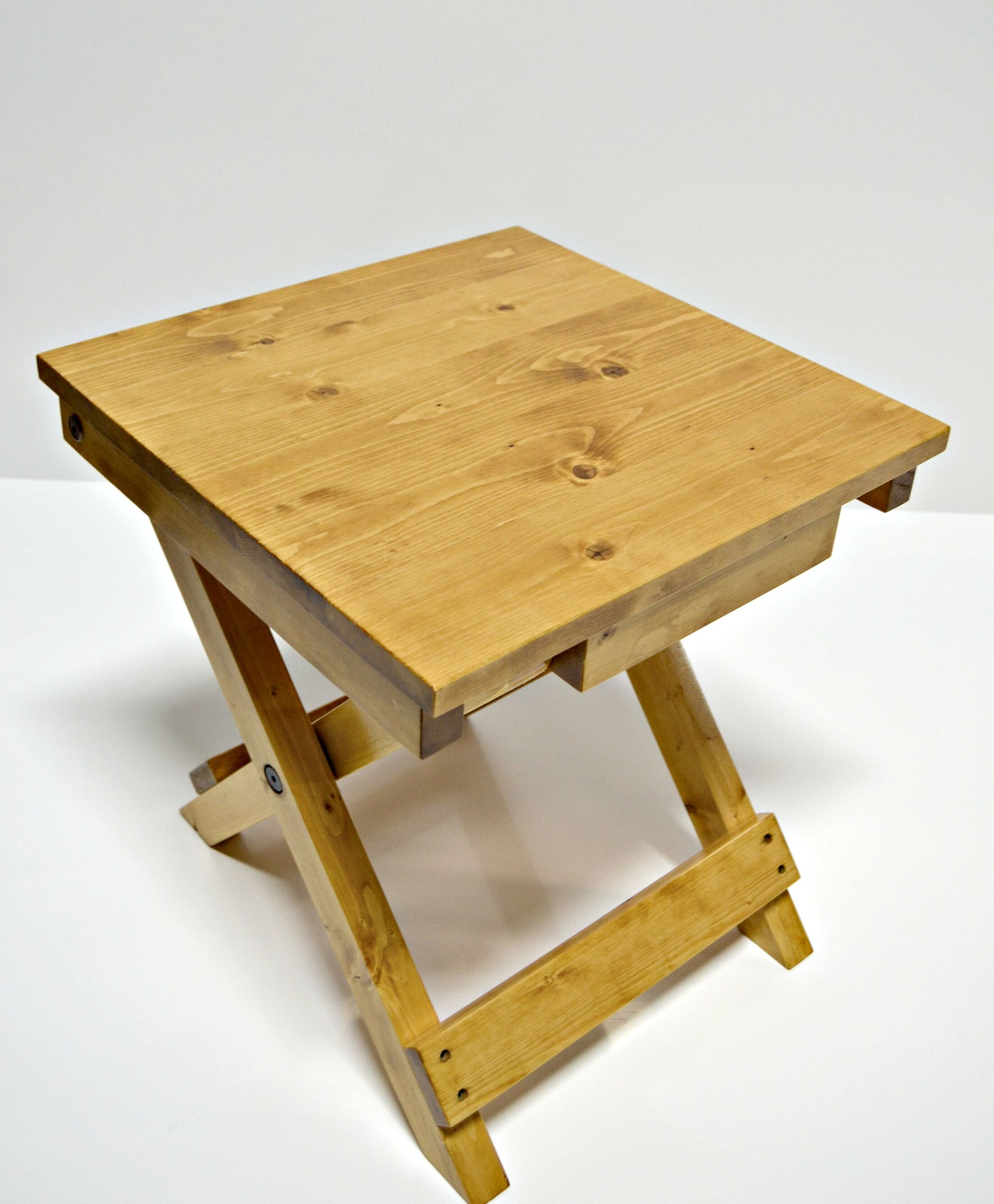 Folding End Table Finish: Light Stain