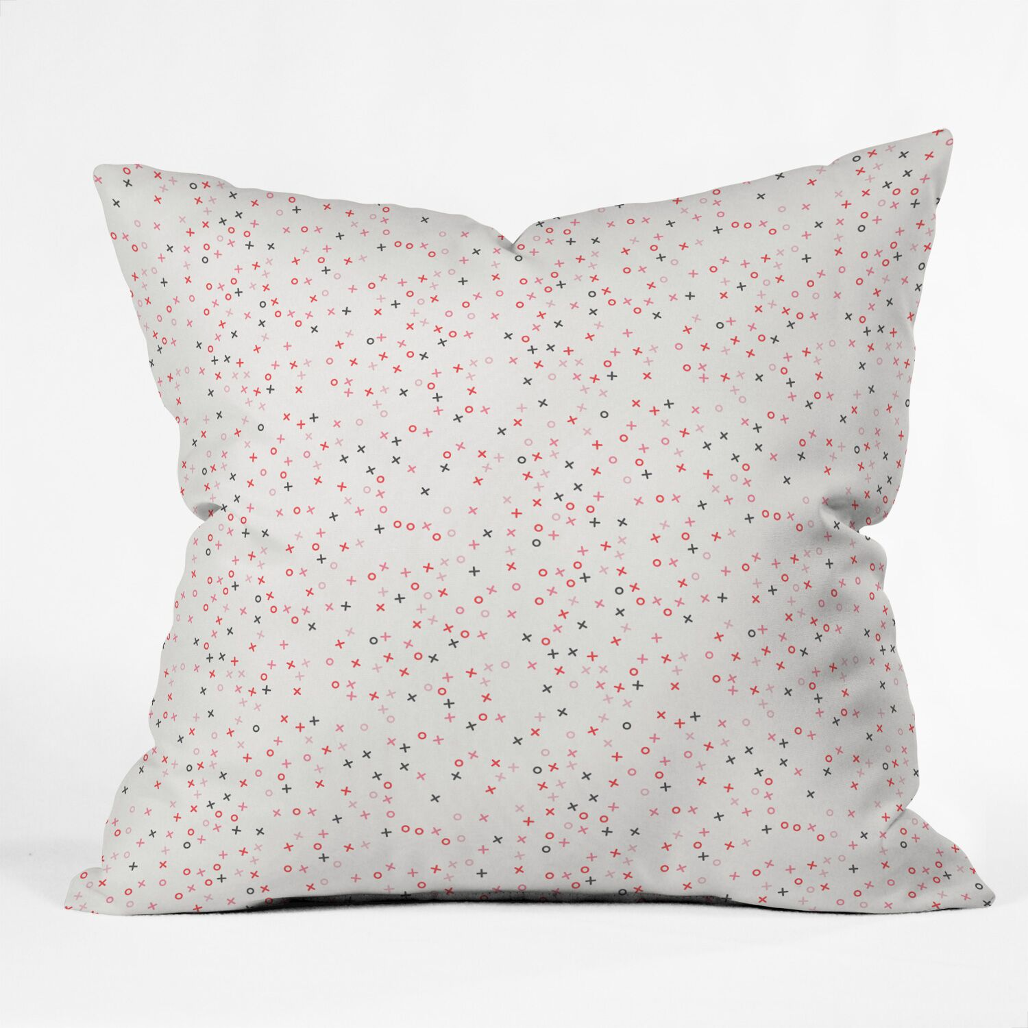 Little Arrow Hugs and Kisses XO Throw Pillow Size: 16