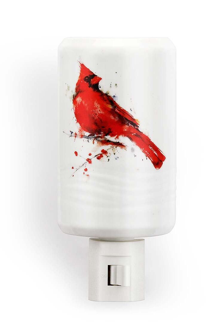 Dean Crouser Watercolor Cardinal Night Light