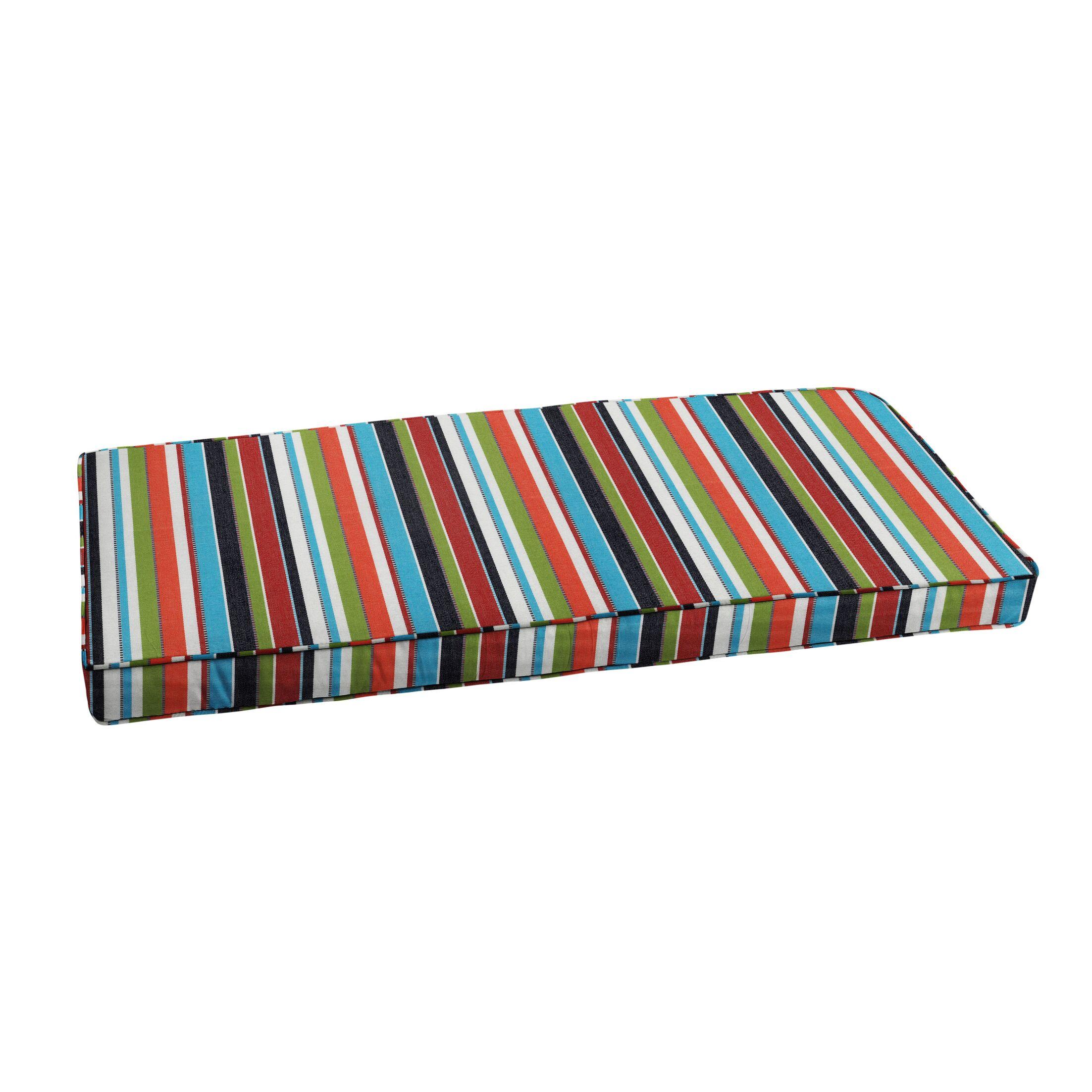 Stripe Indoor/Outdoor Sunbrella Bench Cushion Size: 44
