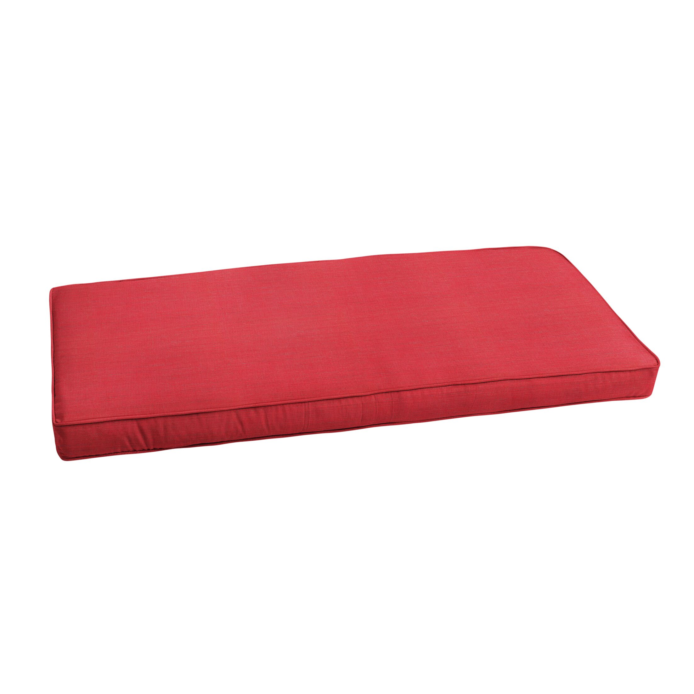 Textured Indoor/Outdoor Sunbrella Bench Cushion Size: 60