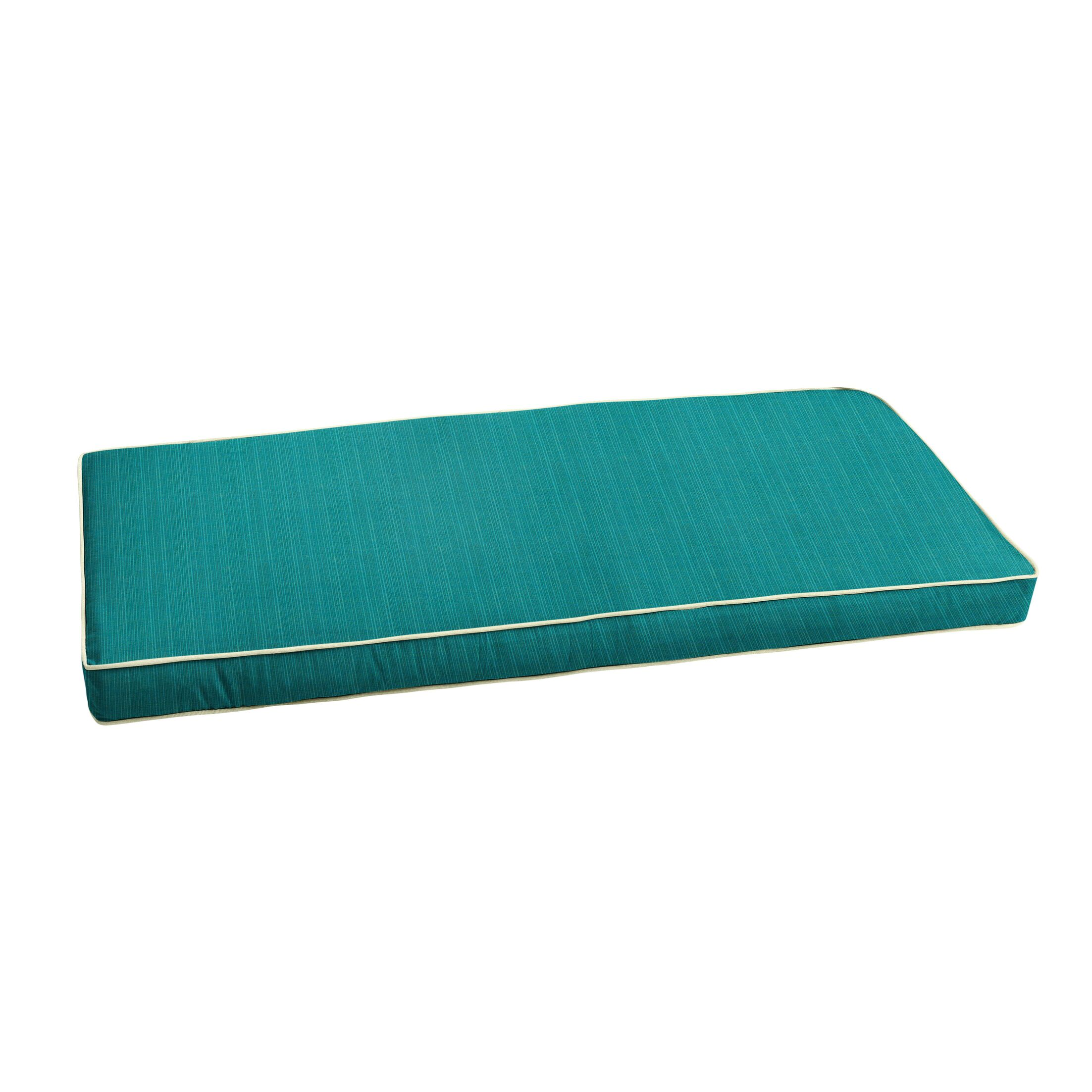 Textured Indoor/Outdoor Sunbrella Bench Cushion Size: 44