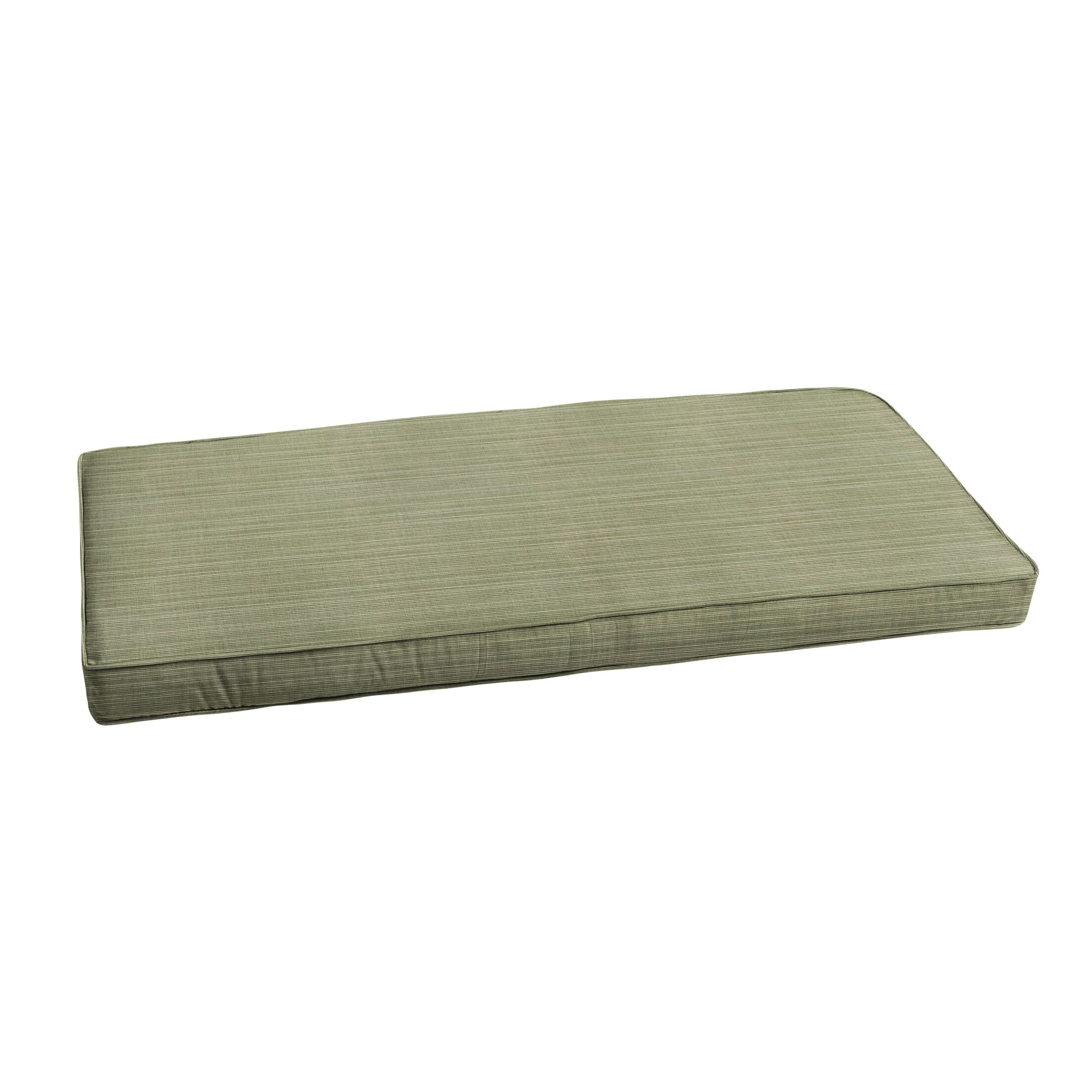Textured Indoor/Outdoor Sunbrella Bench Cushion Size: 55
