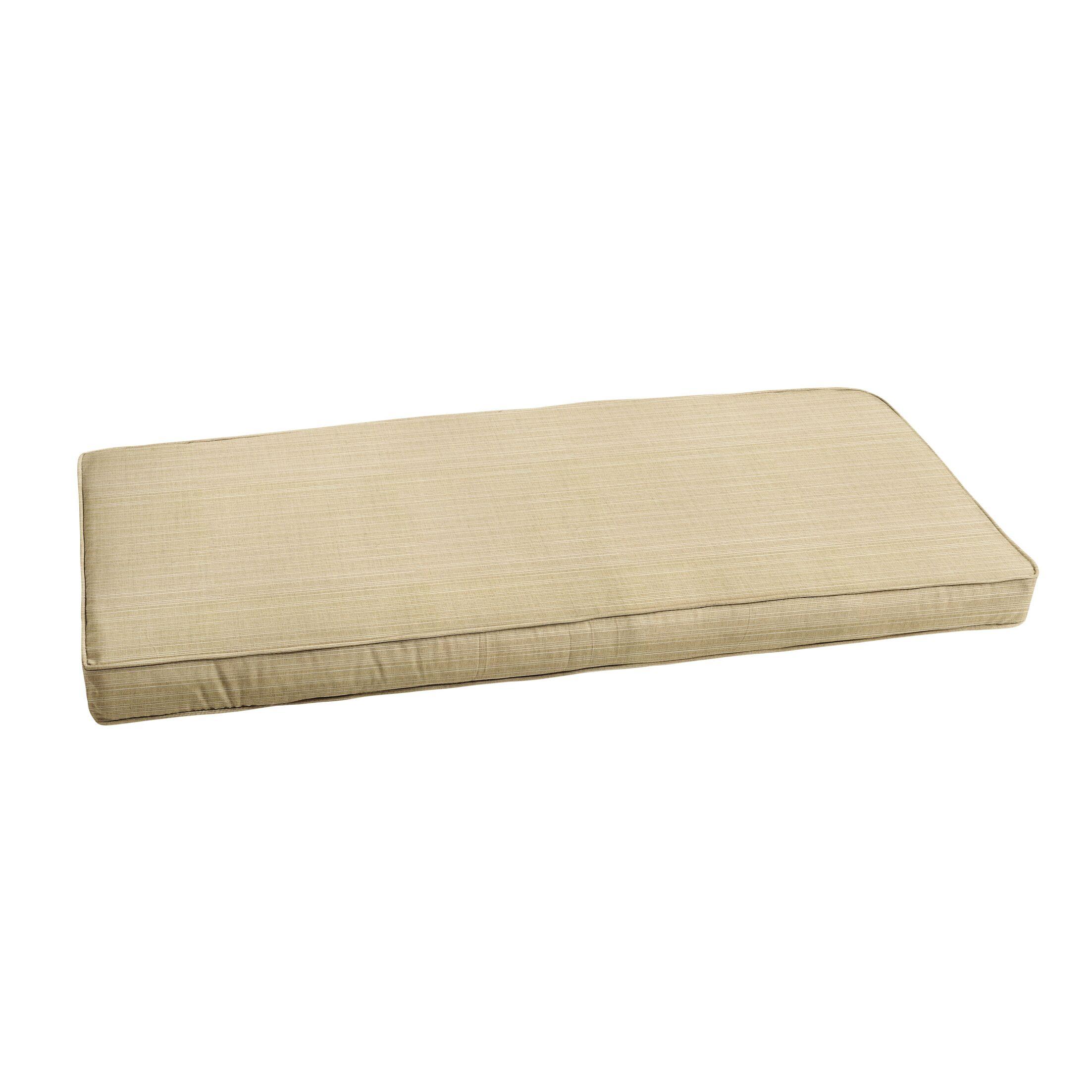 Textured Indoor/Outdoor Sunbrella Bench Cushion Size: 45