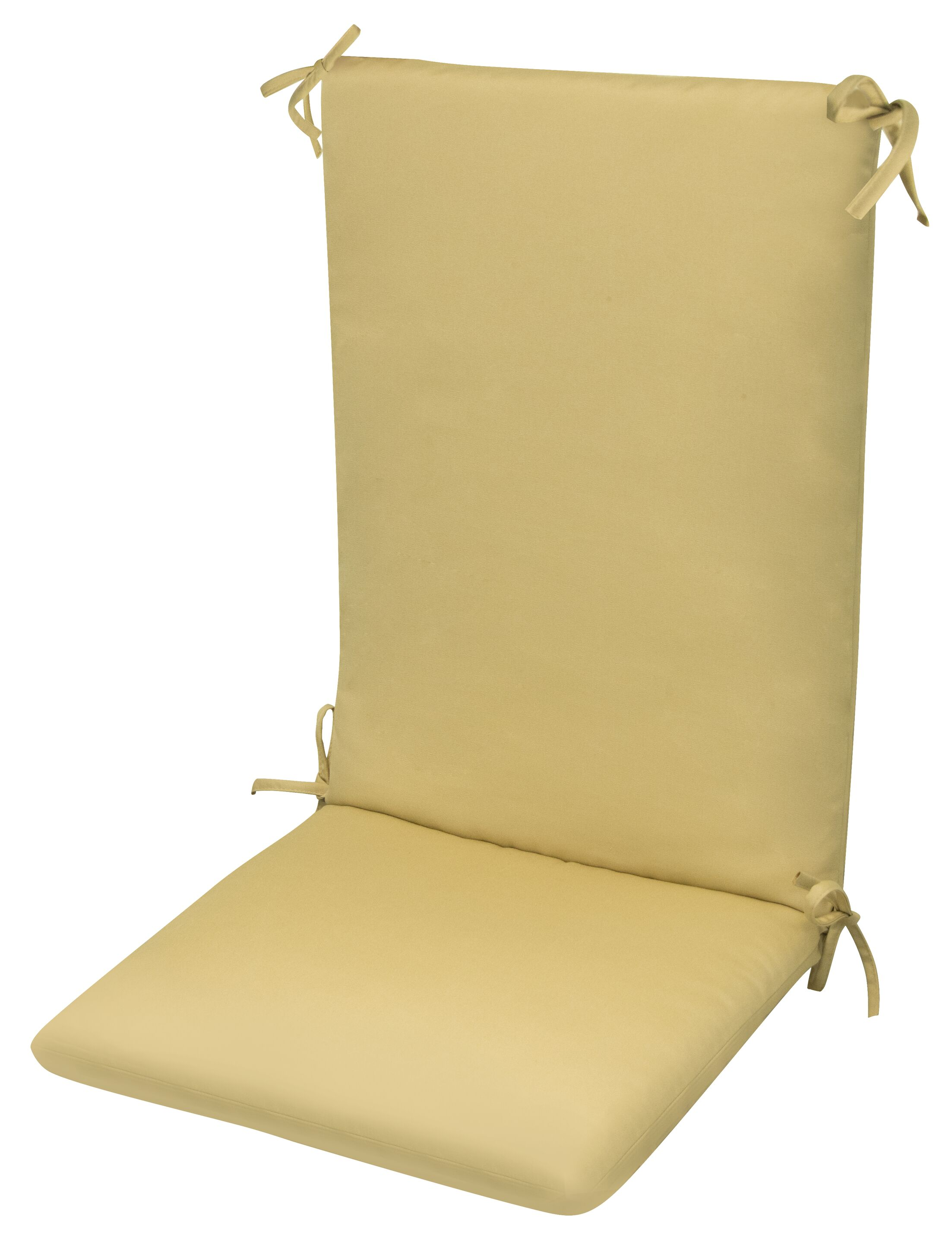 High Back Indoor/Outdoor Dining Chair Cushion Fabric: Beige