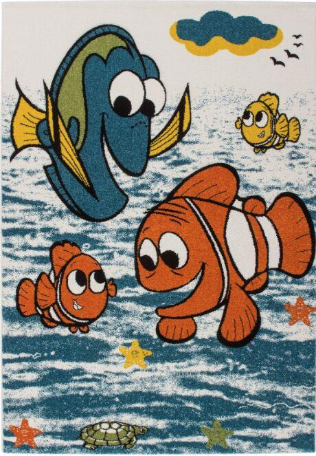 Howton Kids Finding Nemo Fish Blue/Orange Area Rug Rug Size: Rectangle 3'11