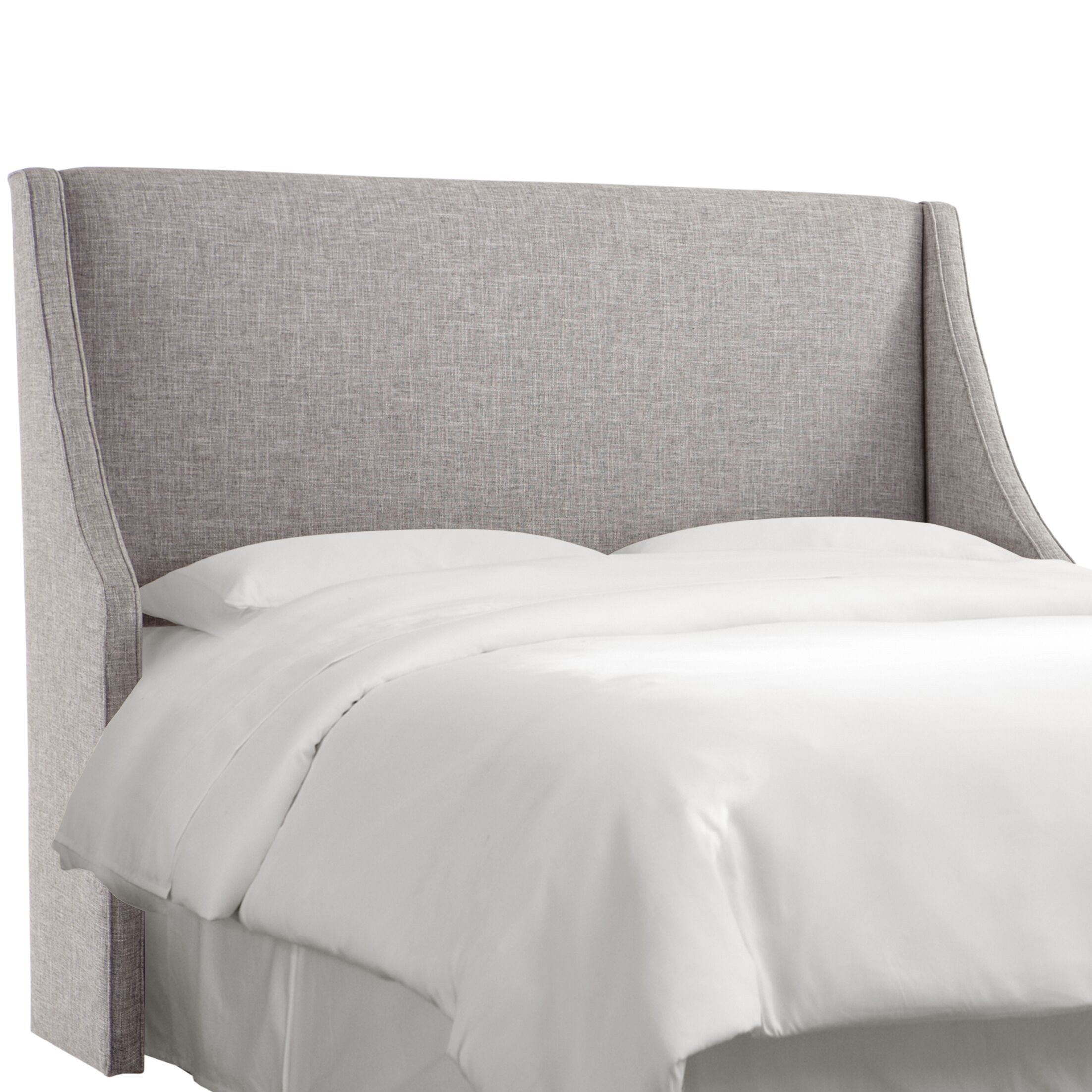 Crumrine Swoop Arm Upholstered Wingback Headboard Size: Full, Color: Zuma Pumice