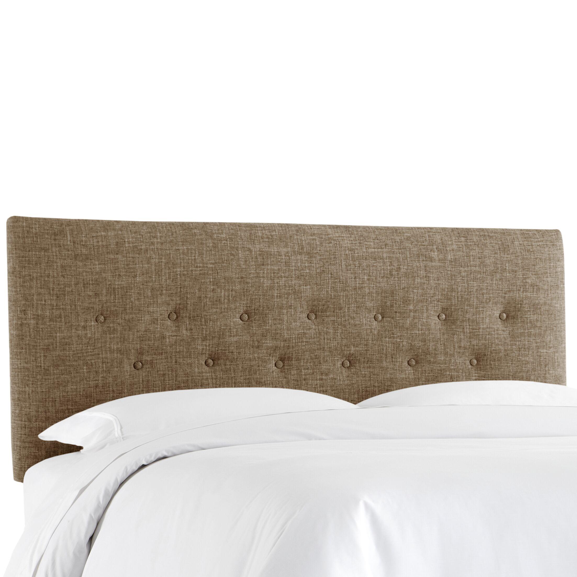 Cimino Button Upholstered Panel Headboard Size: Twin, Color: Zuma Cobblestone