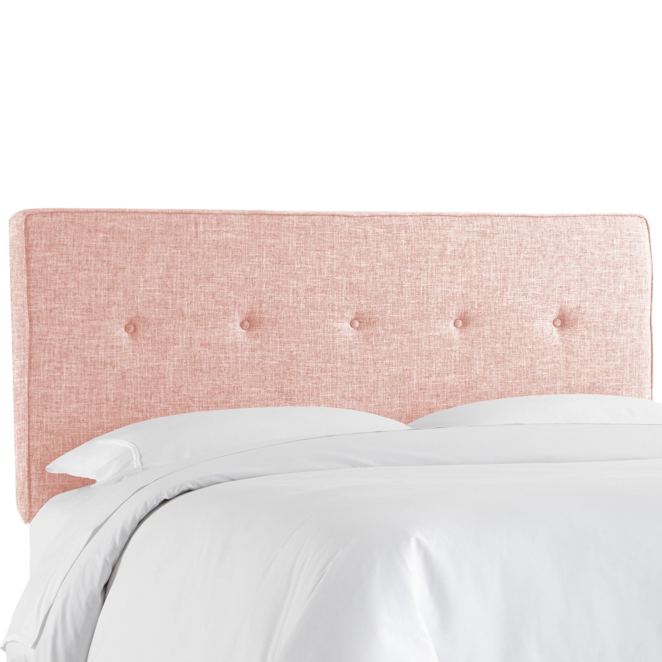 Deforest Tufted Upholstered Panel Headboard Size: Queen, Color: Zuma Rosequartz