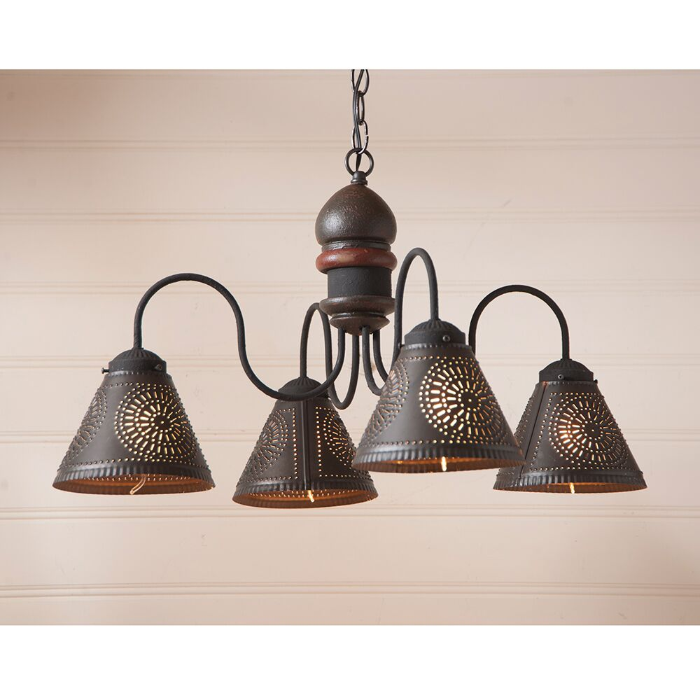 Whitmore Wood 4-Light Shaded Chandelier Finish: Americana Espresso