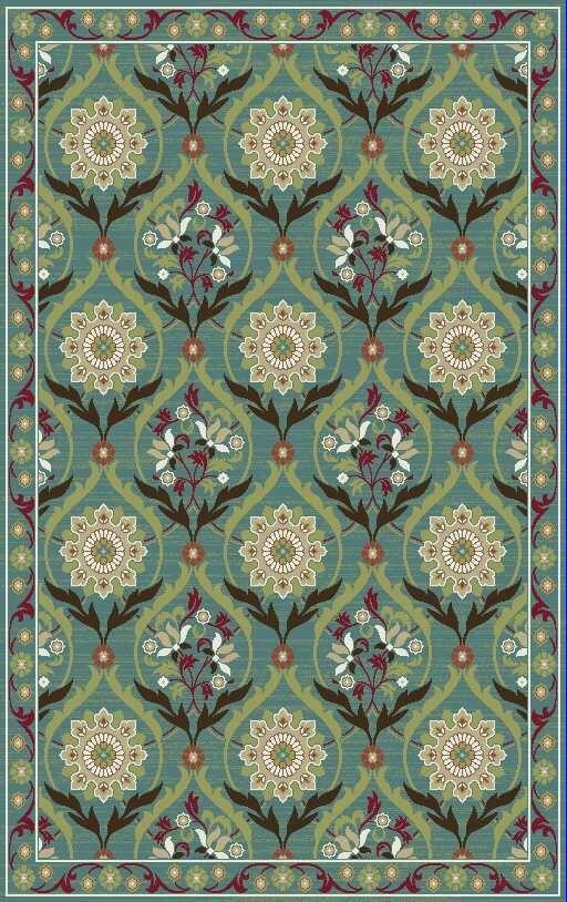 Jacinto Green Sage/Cream Area Rug Rug Size: Rectangle 8' x 9'2