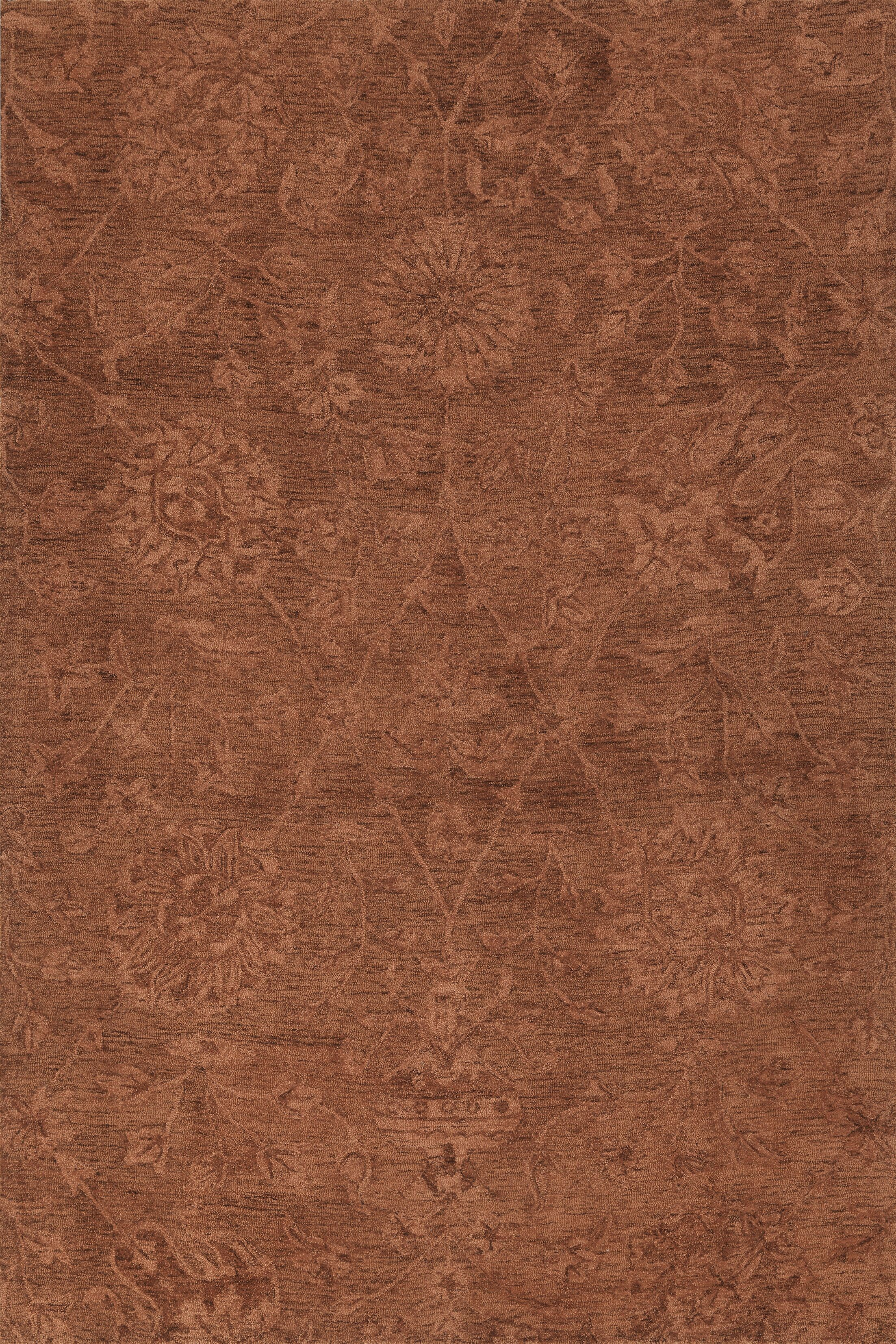 Chatmon Hand-Tufted Wool Copper Area Rug Rug Size: Rectangle 3'6