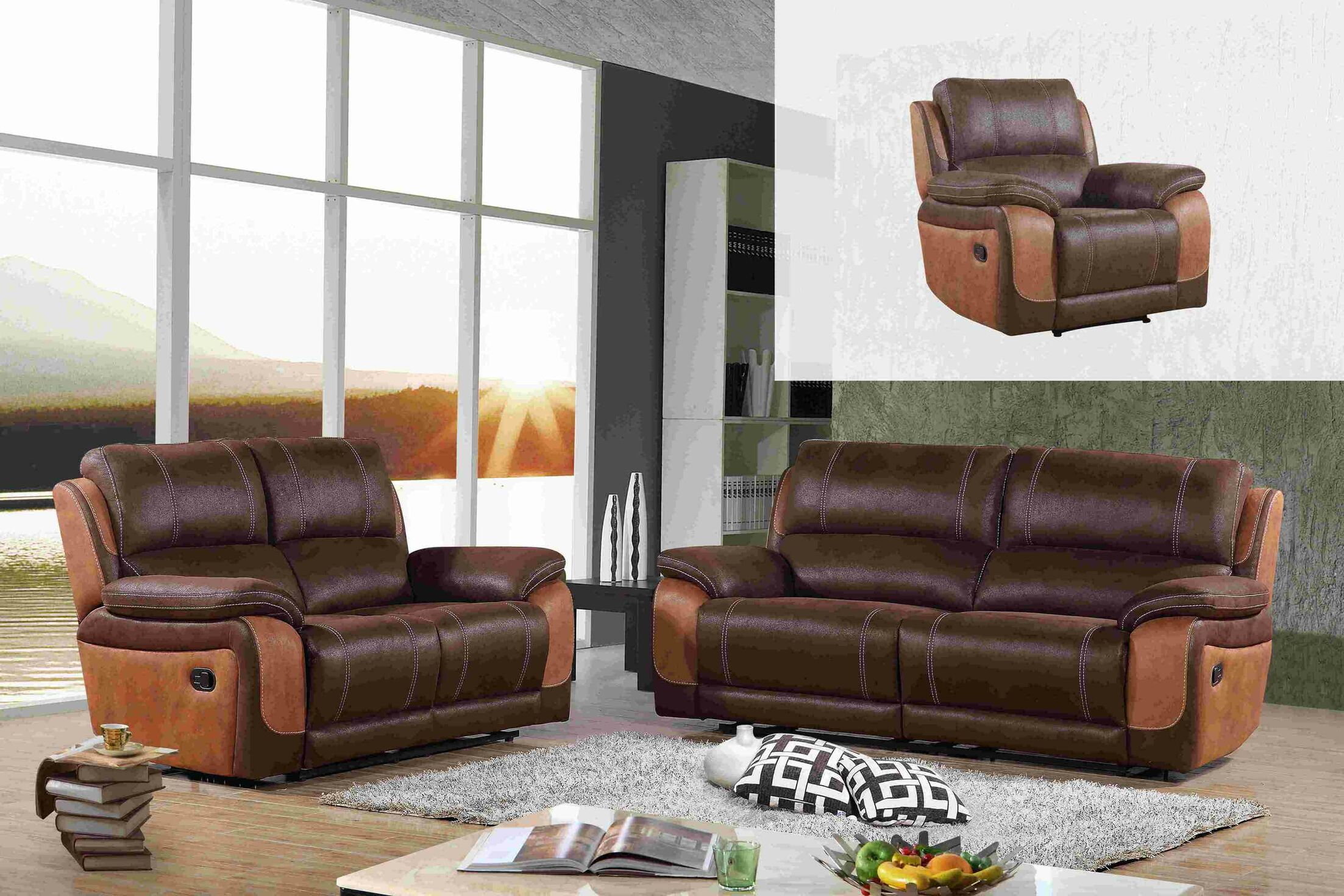 Whicker 3 Piece Living Room Set