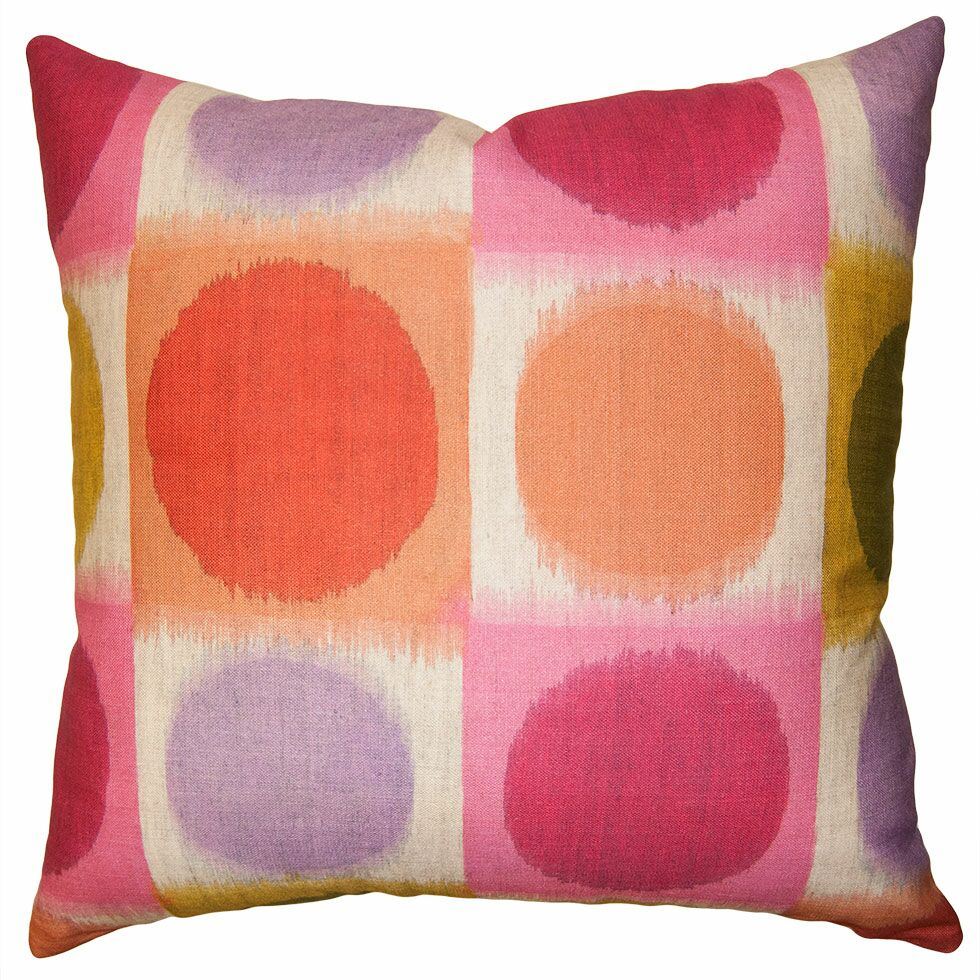 Rainbow Checkers Pillow Size: 26