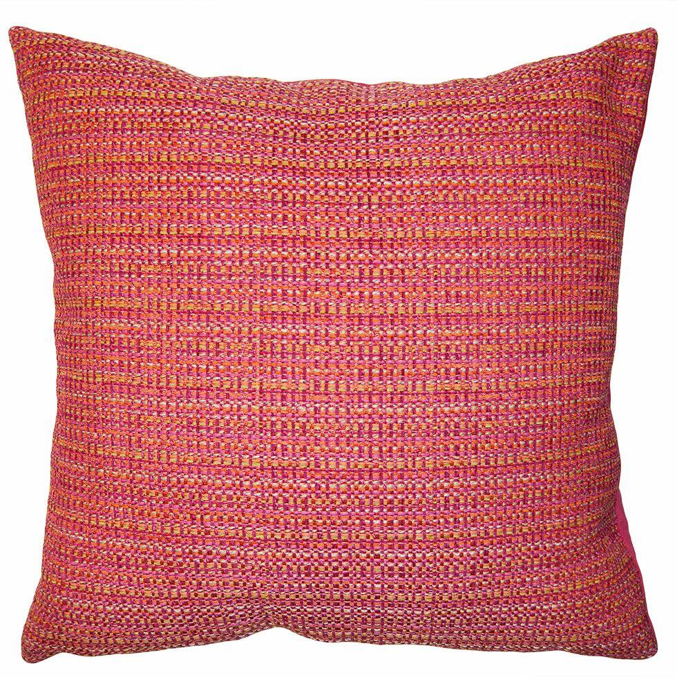 Rainbow Plaid Pillow Size: 20