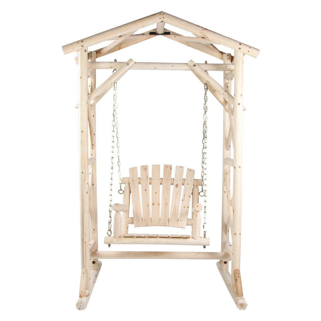 Tallman Wooden Porch Swing with Stand