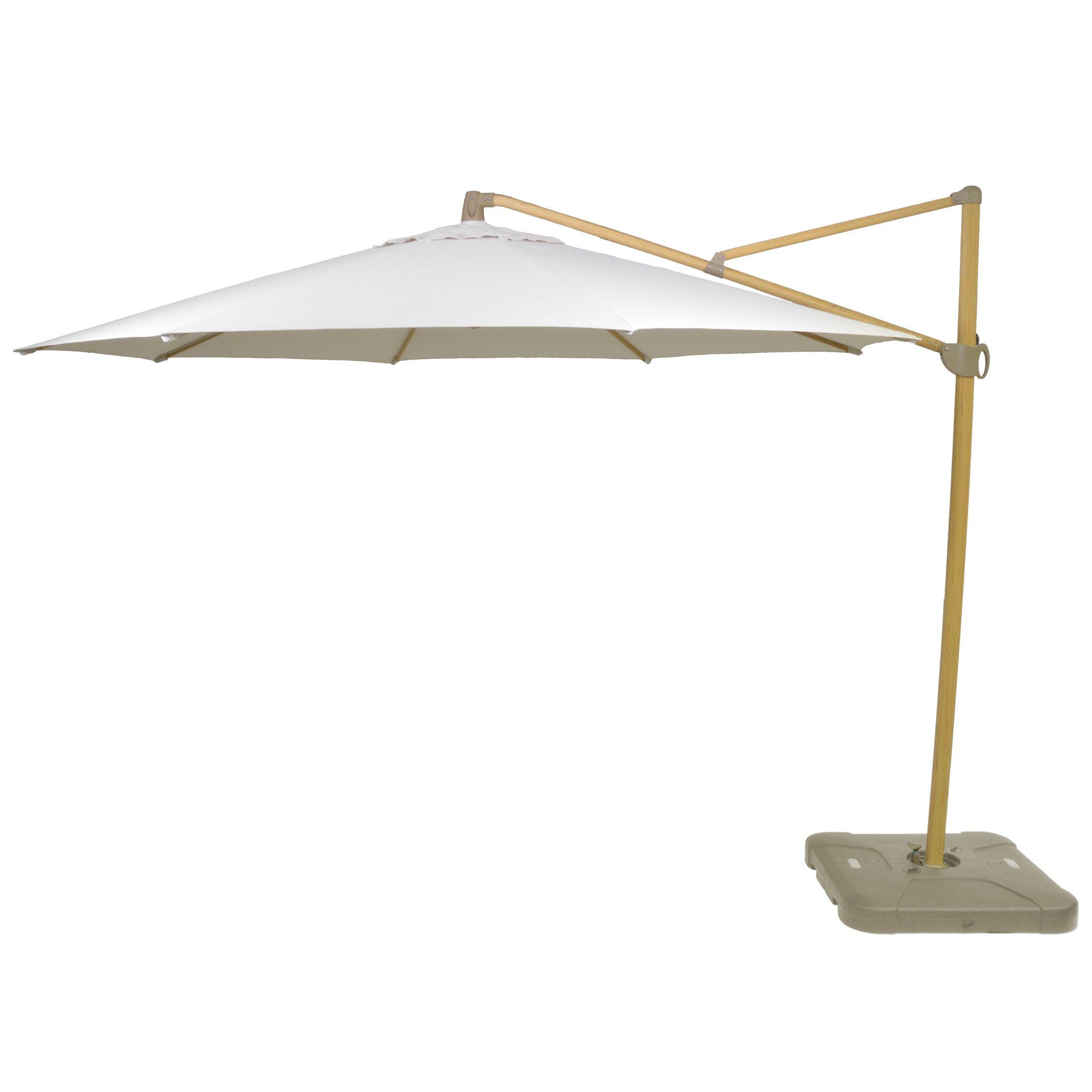 Kedzie Outdoor 11' Cantilever Umbrella Base Color: Gold, Fabric Color: Linen