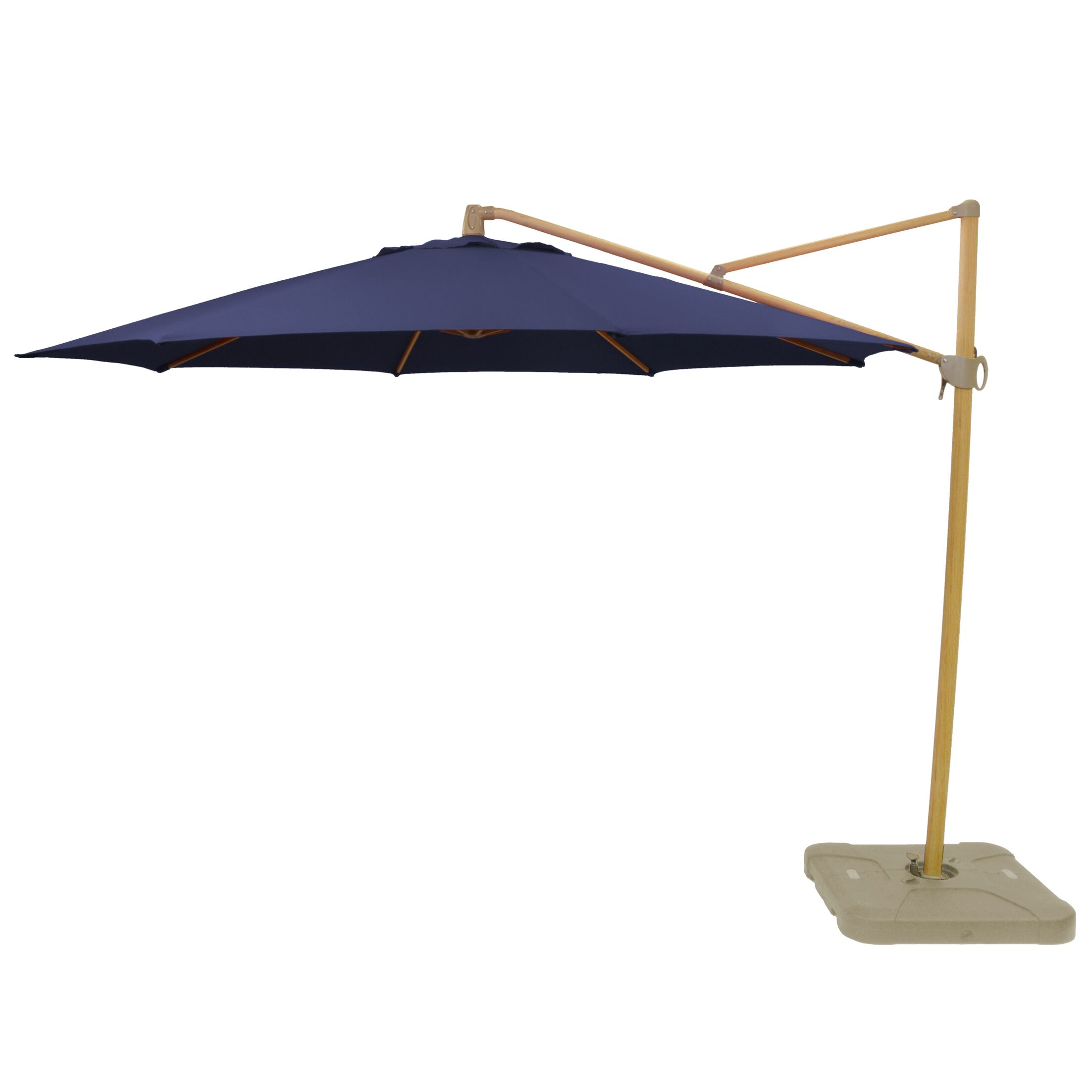 Kedzie Outdoor 11' Cantilever Umbrella Base Color: Gold, Fabric Color: Navy