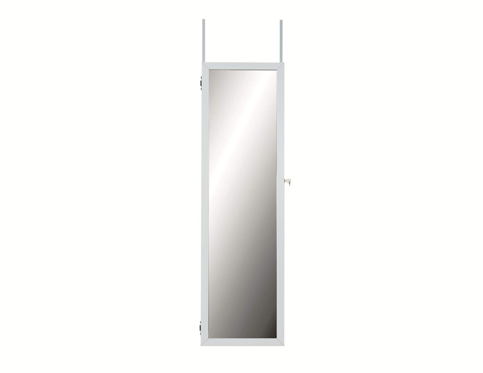 Maybank Over the DoorJewelry Armoire with Mirror Color: White