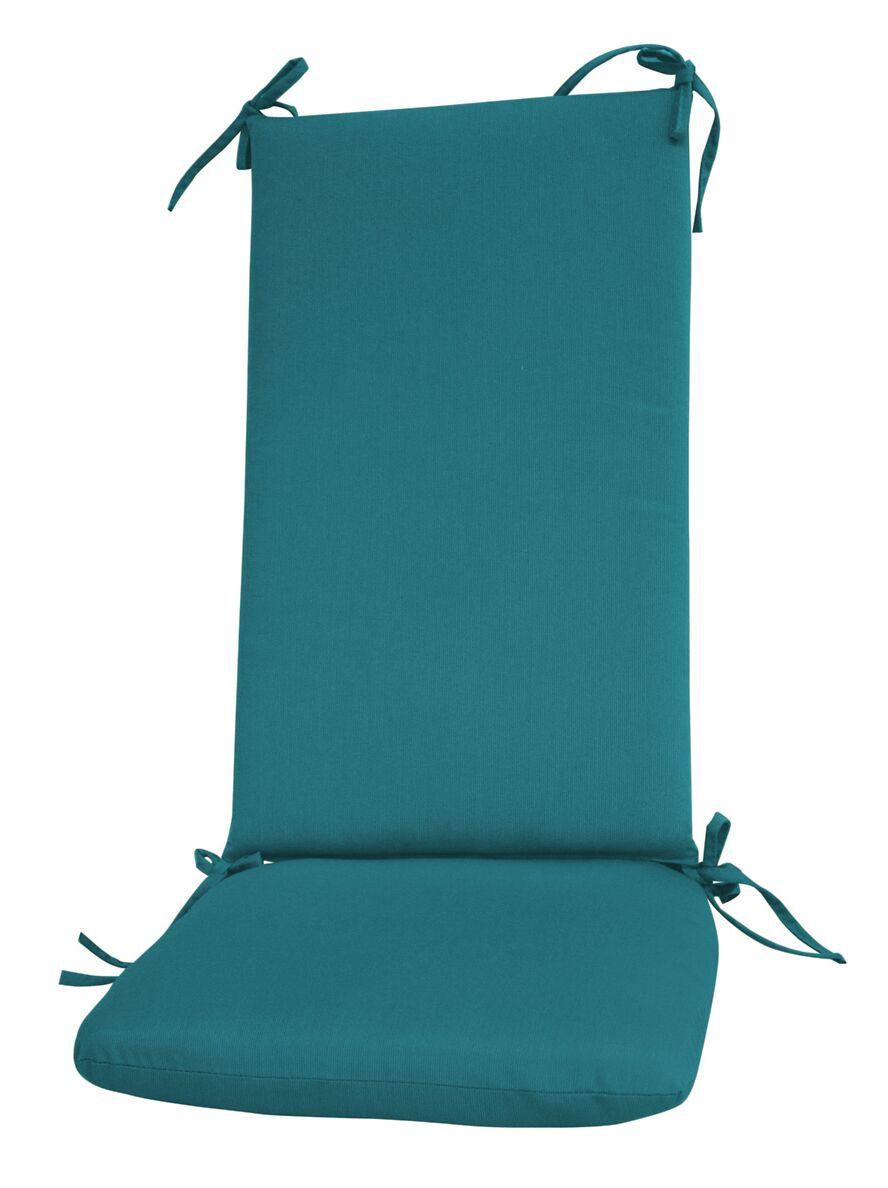 Indoor/Outdoor Sunbrella Rocking Chair Cushion Fabric: Peacock