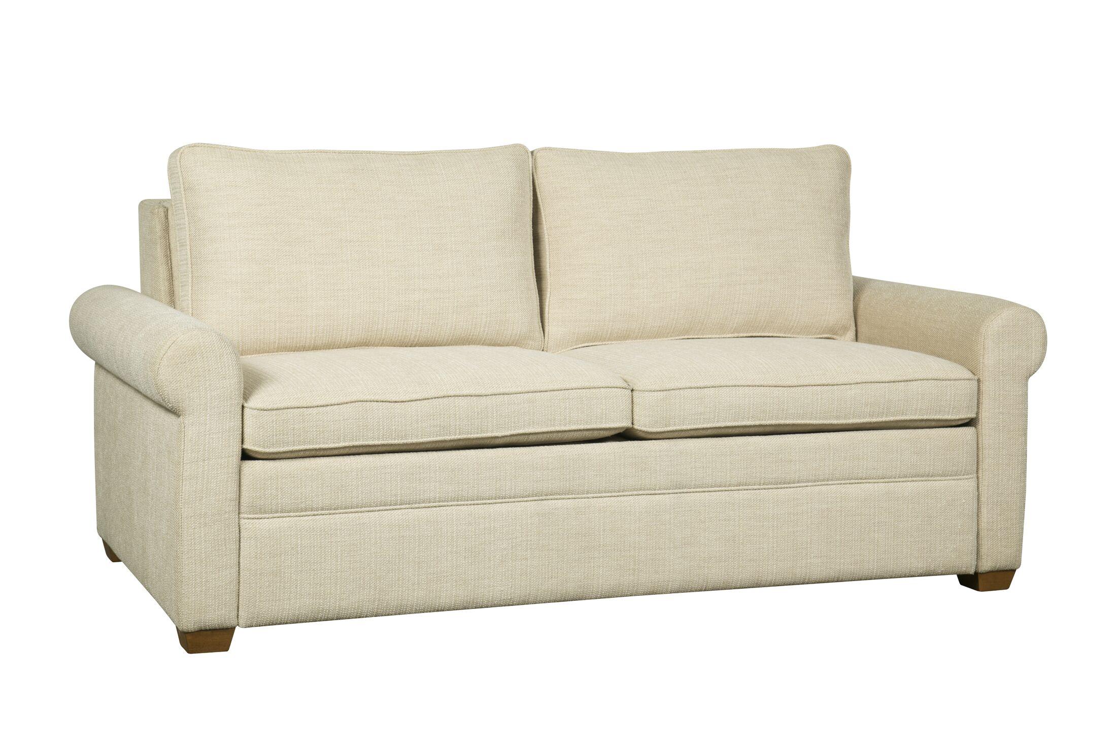 Kipling Sleeper Sofa Mattress Type: Queen Plus, Upholstery: White Linen