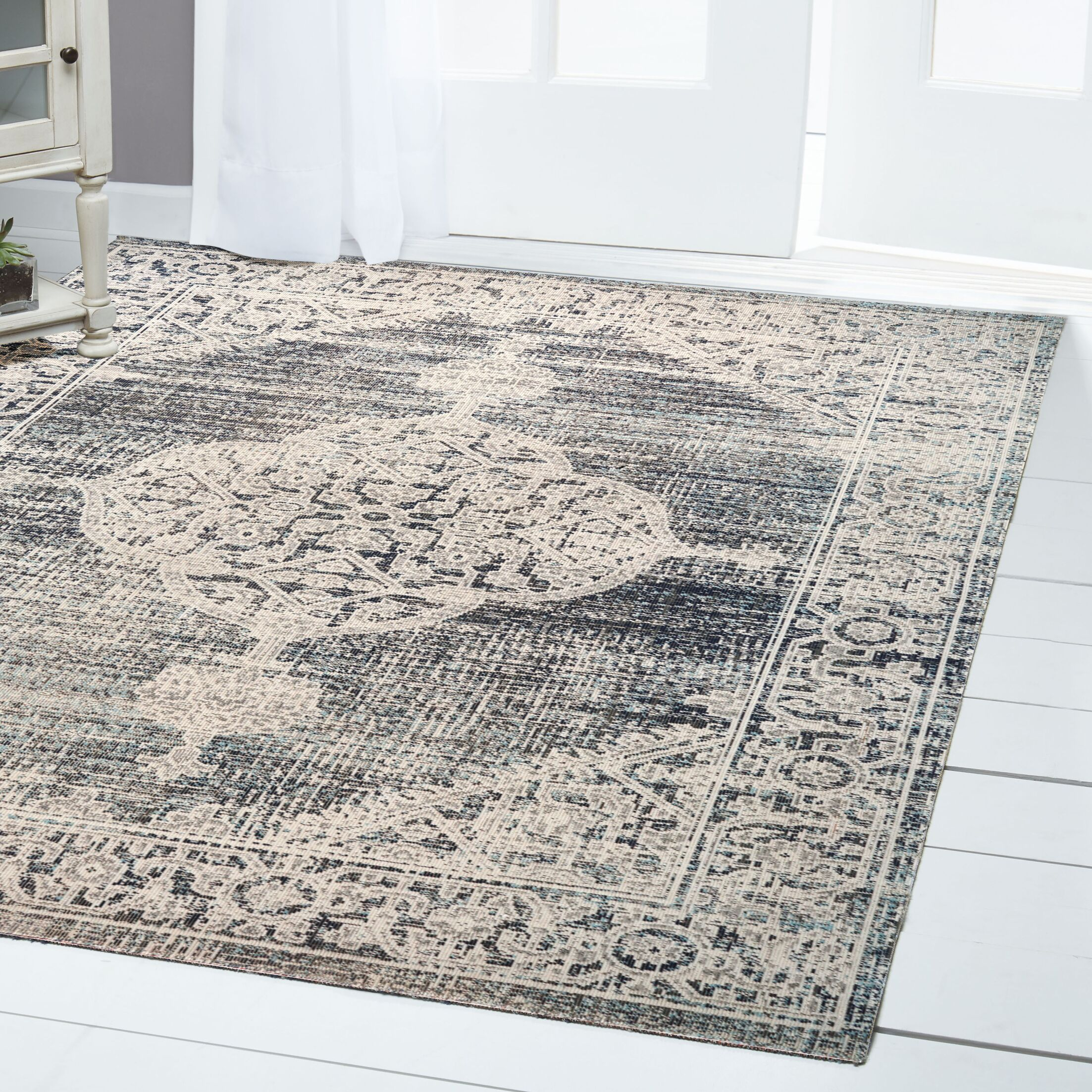 Sofia Beige/Brown Indoor/Outdoor Area Rug Rug Size: Rectangle 5'3