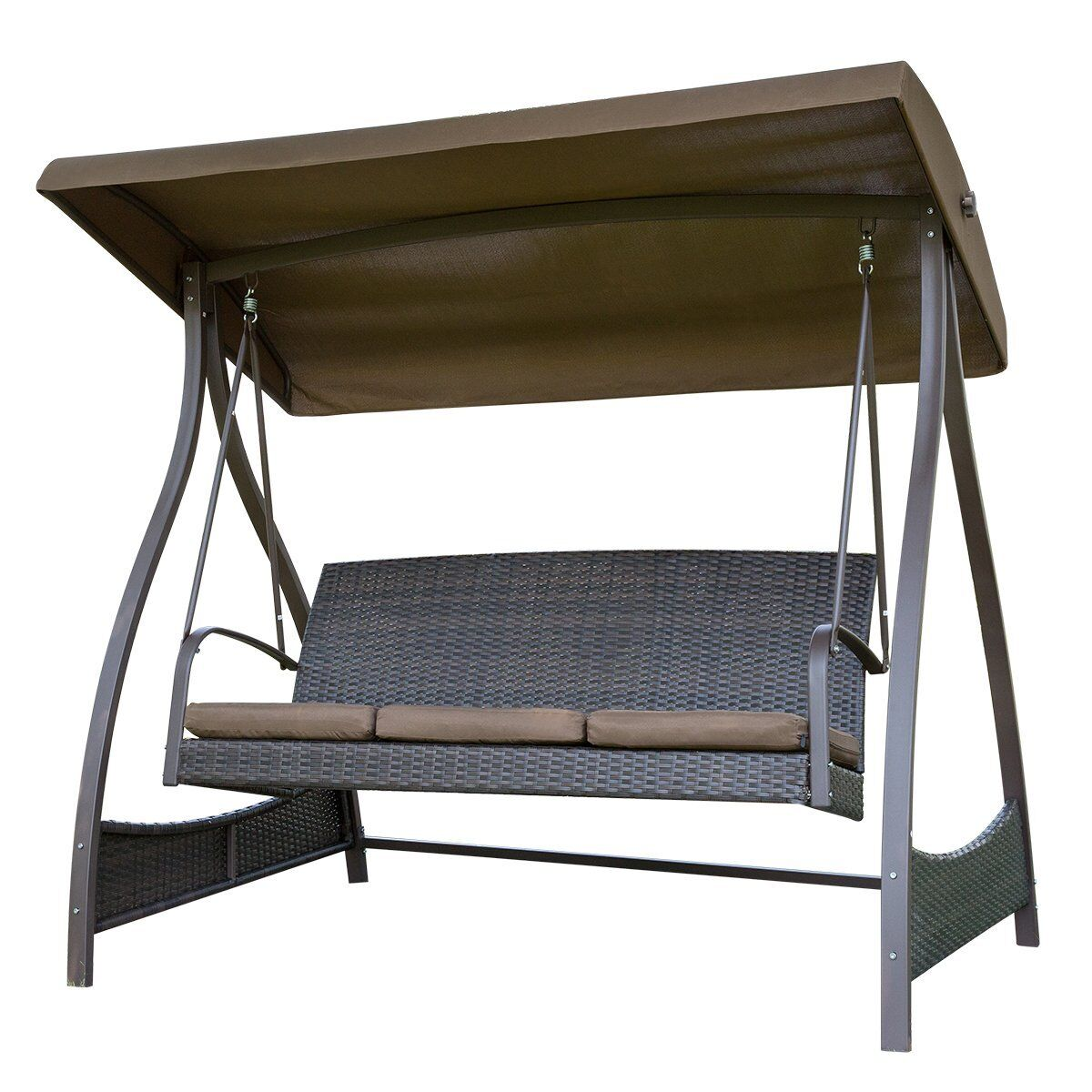Flavin Garden Canopy Lounger Porch Swing with Stand